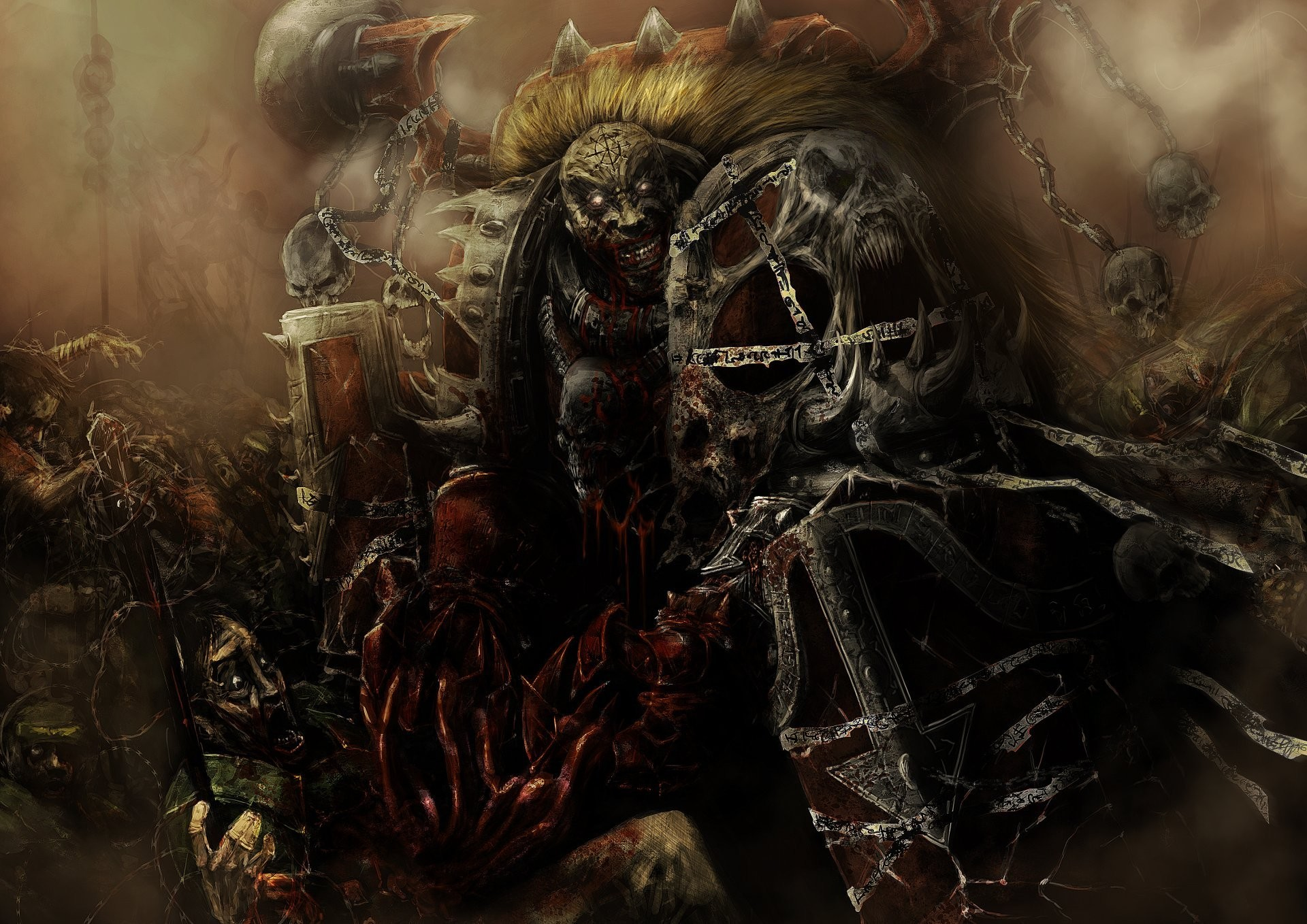 warhammer 40k chaosmarine word bearers varhamer chaos bearing the word  armour blood madness skull imperial guard