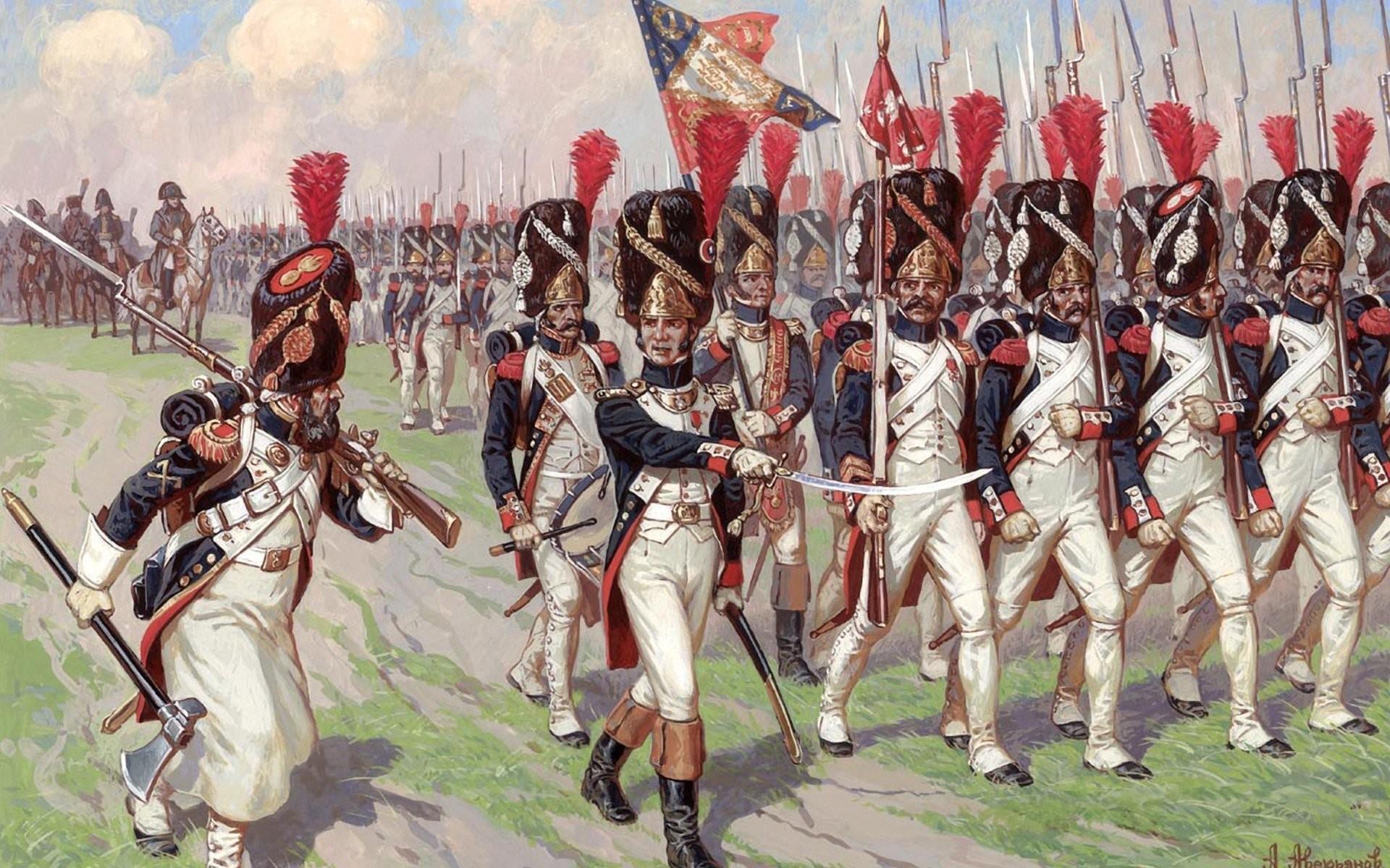 alexander averyanov imperial old guard men war painting