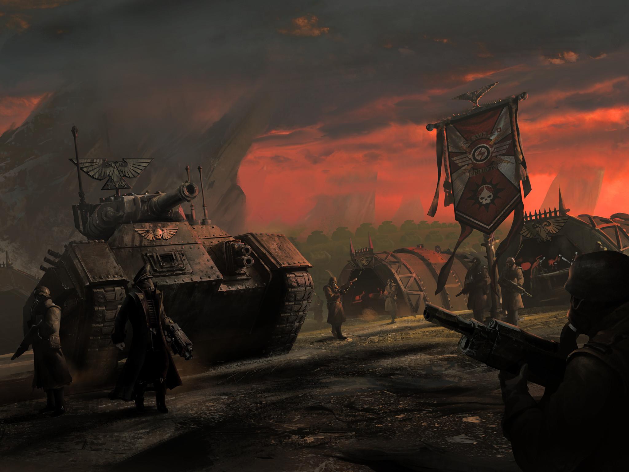 Imperial Guard – Warhammer 40k – Astra Militarum – Armageddon Steel Legion  – Chimera – Commissar
