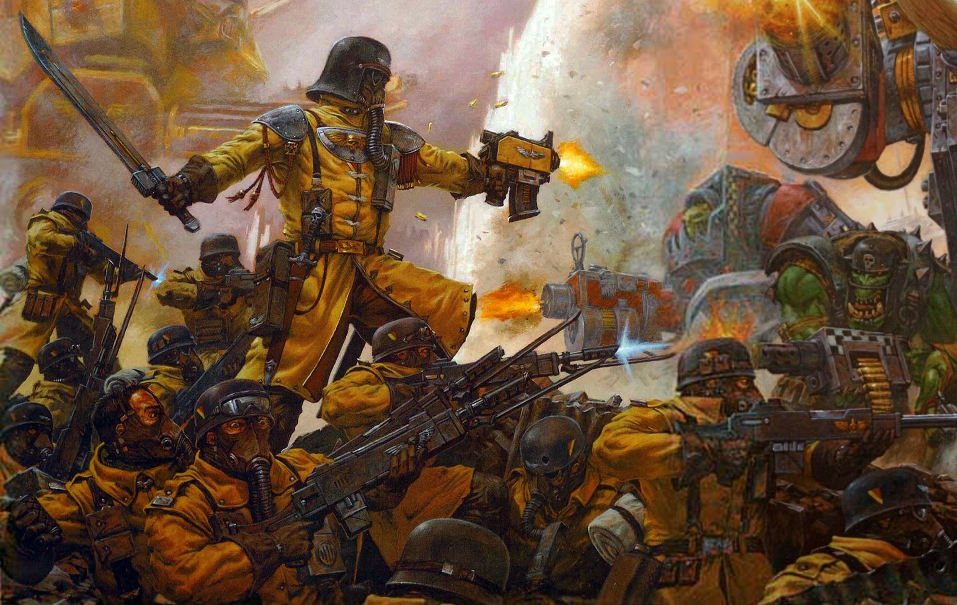 i cant go mentioning all these badasses without including the Armageddon  Steel Legion, while they are not particularly as impressive as the others  they are …