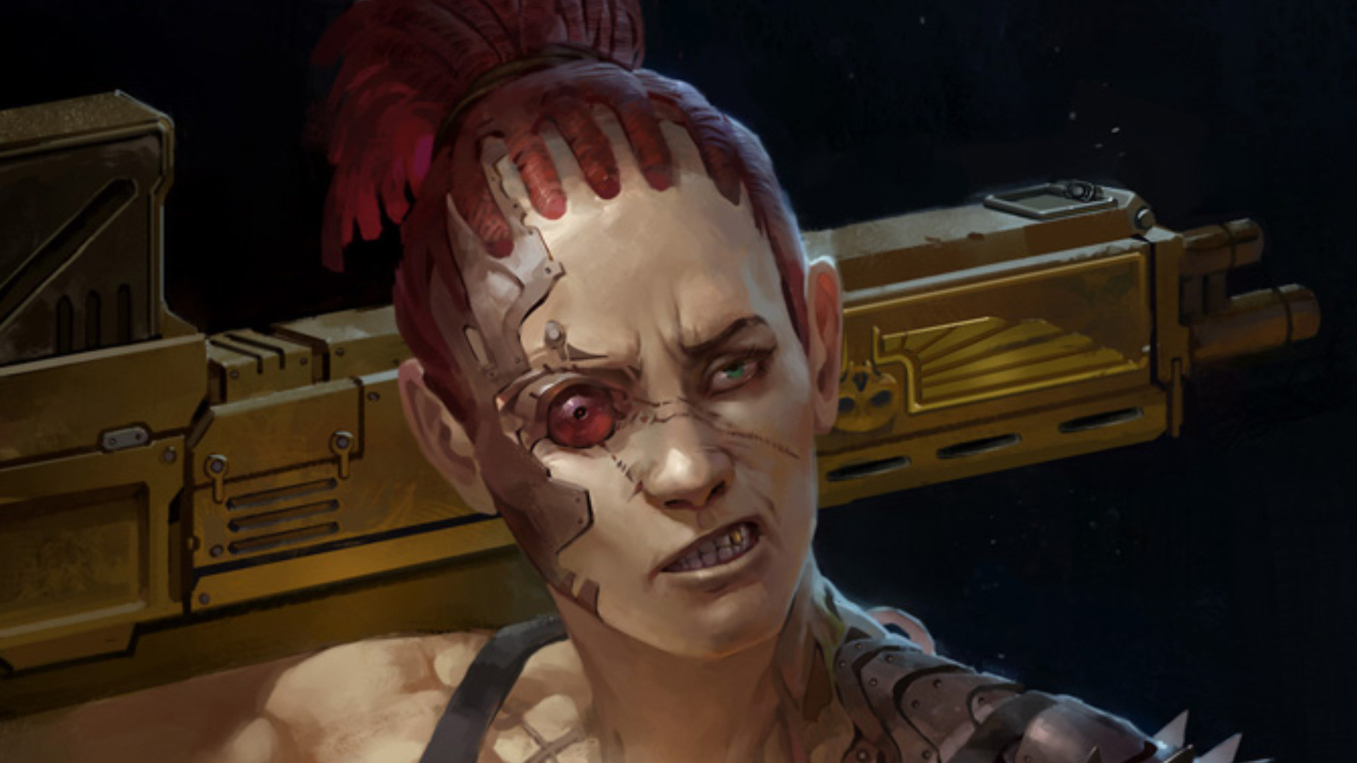 Sci Fi – Women Warrior Cyborg Imperial Guard Scar Wallpaper