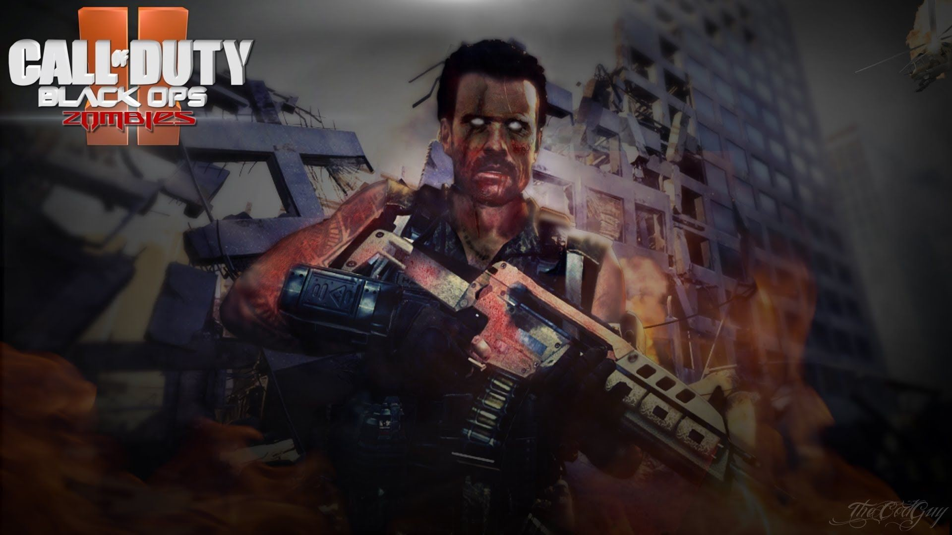 FREE Zombies Black Ops 2 Wallpaper Speed Art (Download in .