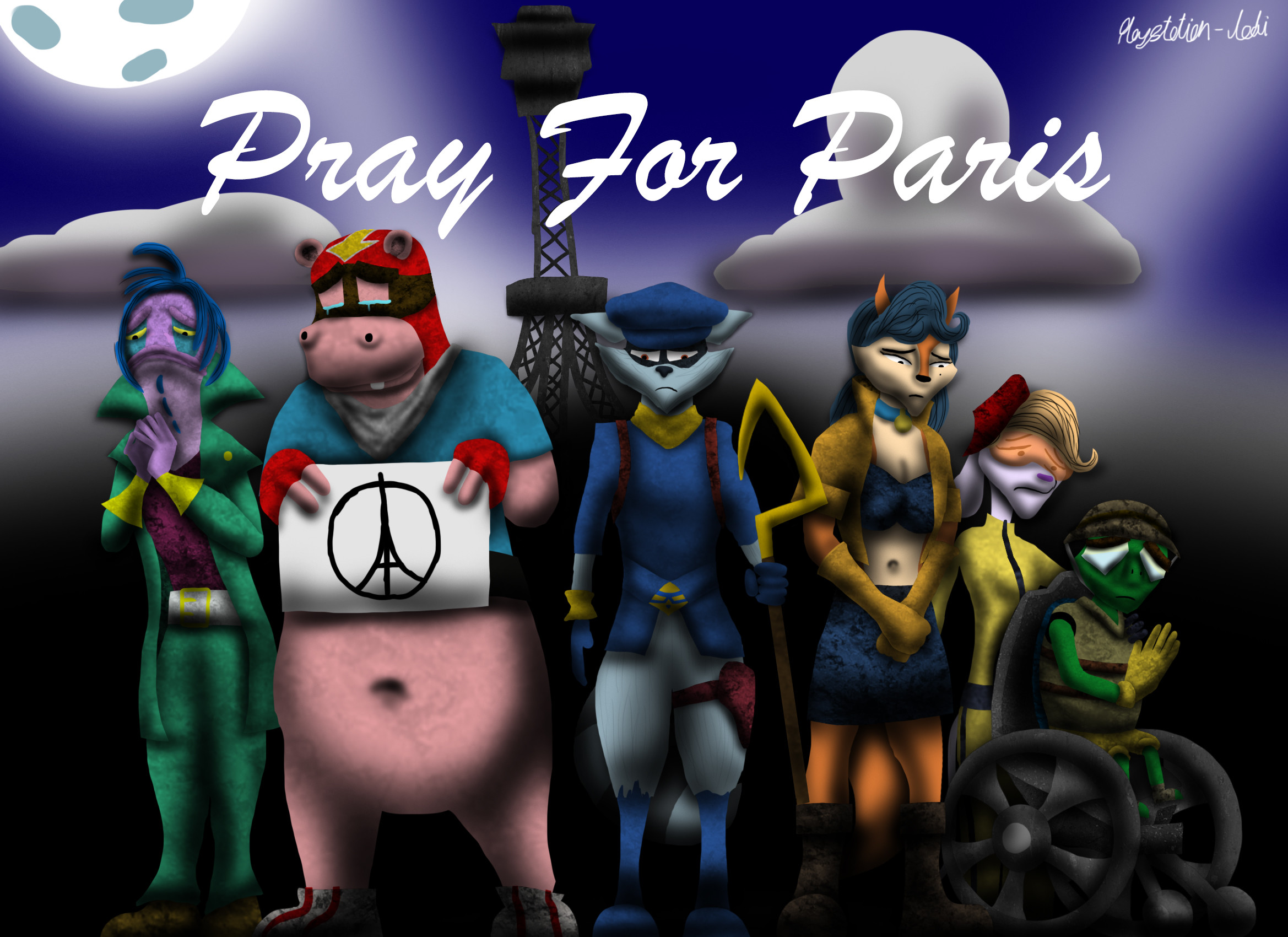 … The Cooper Gang Prays for Paris by Playstation-Jedi