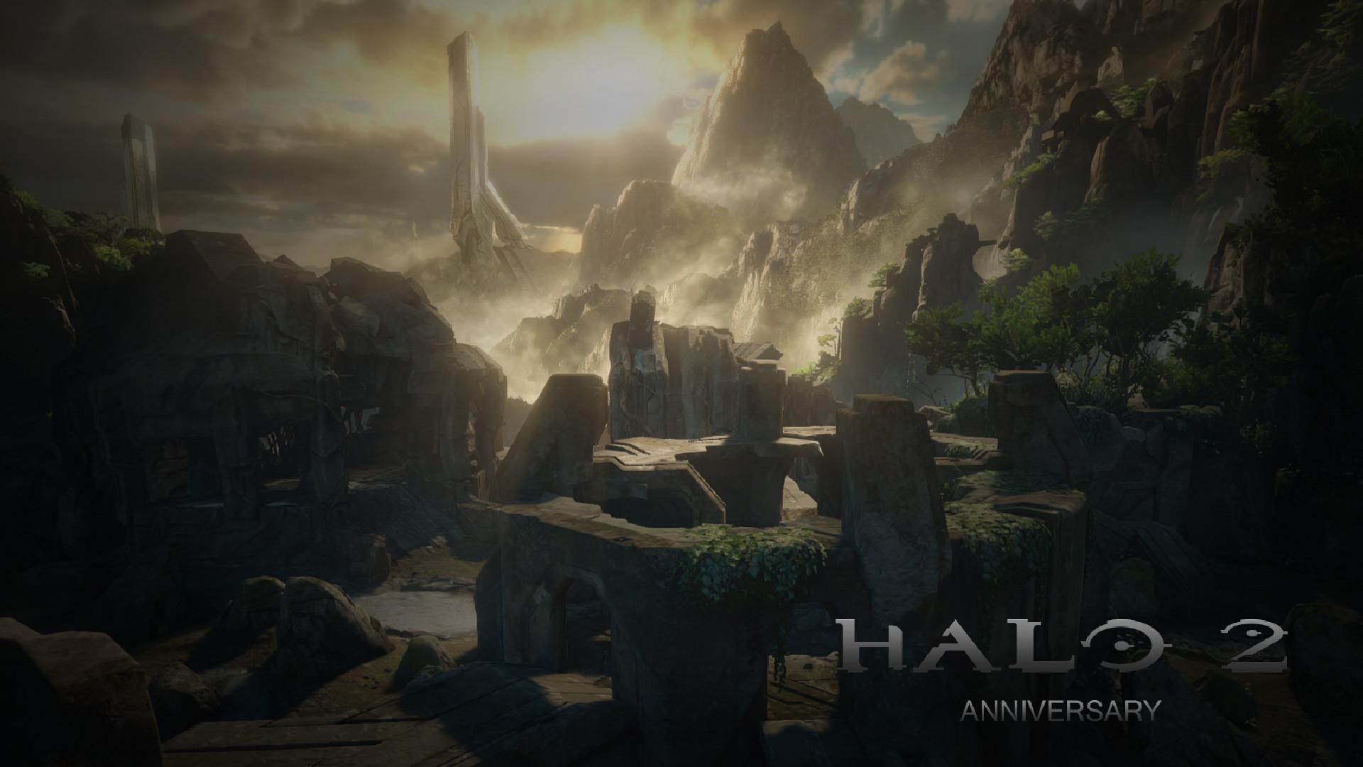 … Halo 2: Anniversary (Shrine map) Wallpaper Full HD by EliteSpartan1