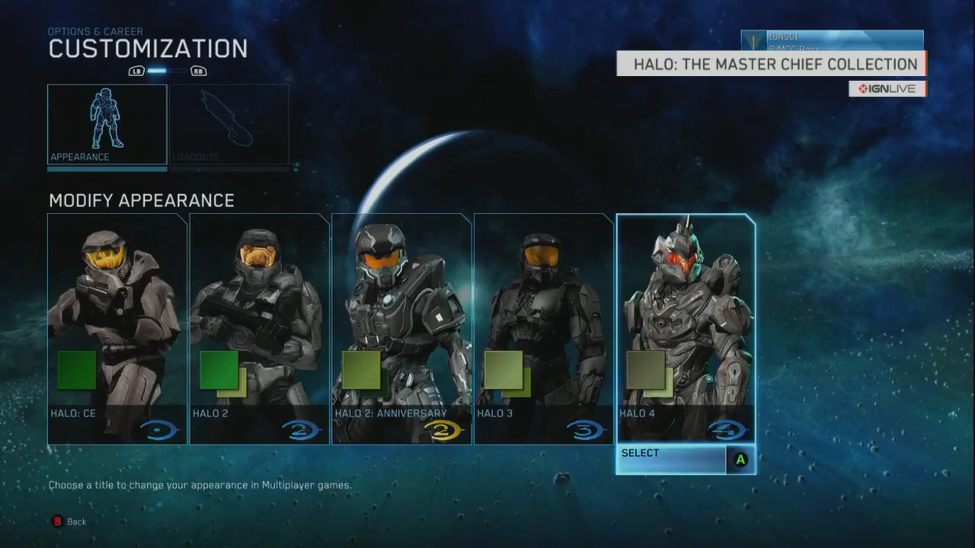 Halo Master Chief Collection Armor Customization