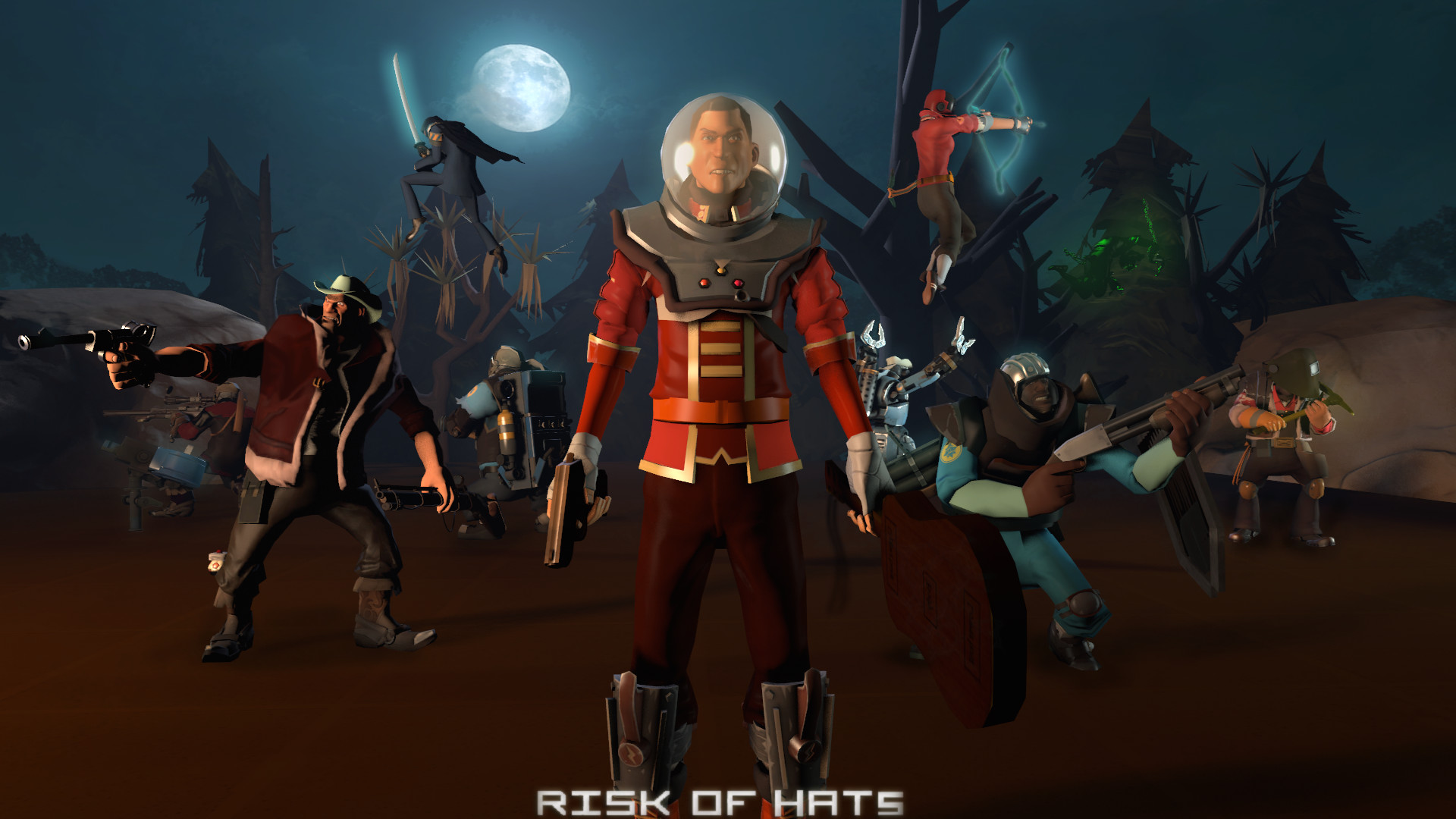 Risk of Hats (Team Fortress 2 X Risk of Rain) by finalleet on .