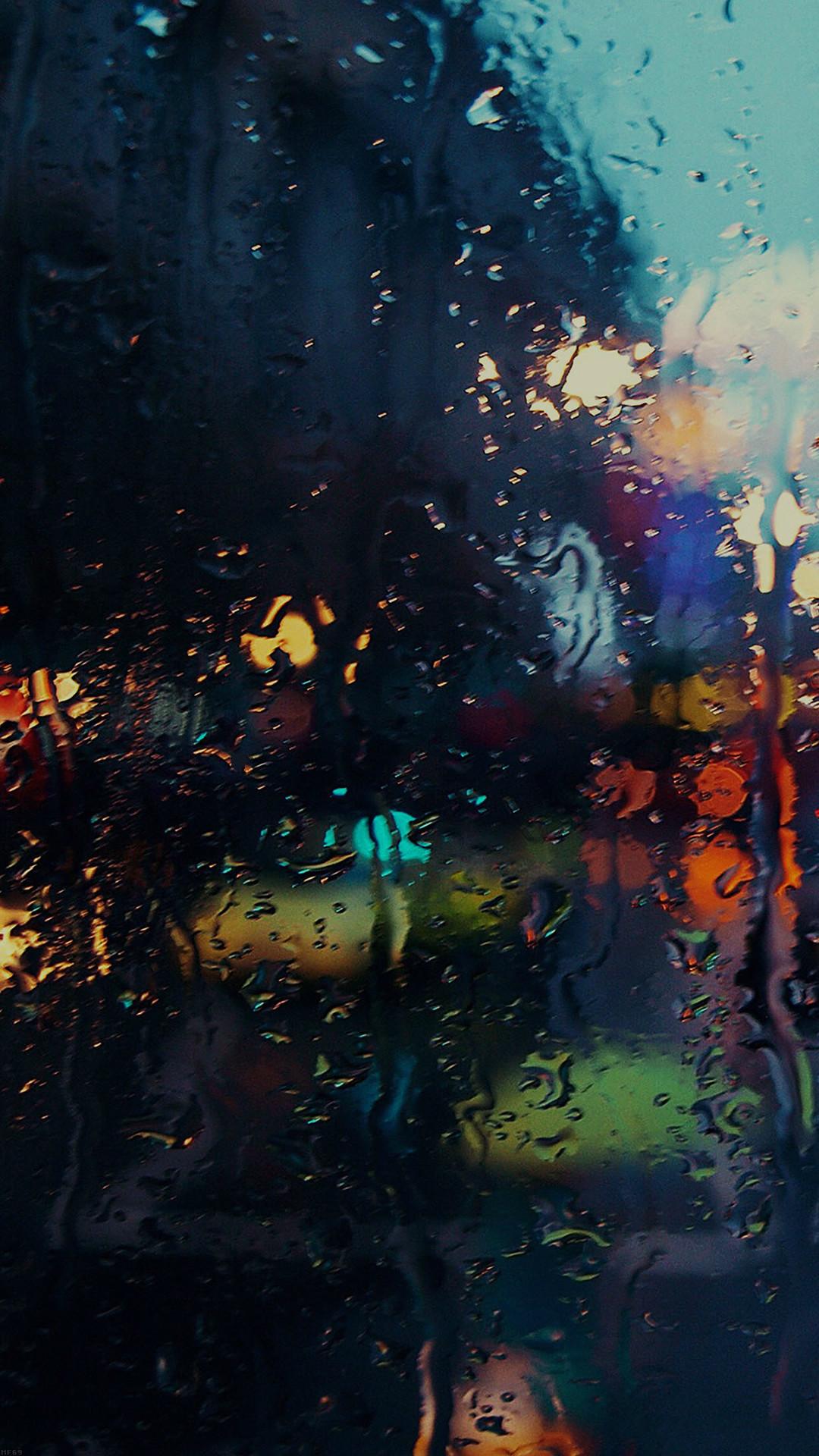 Raining Back Car Window Gloomy Dark Street. Wallpapers IpadPhone  BackgroundsIphone 7RainLost