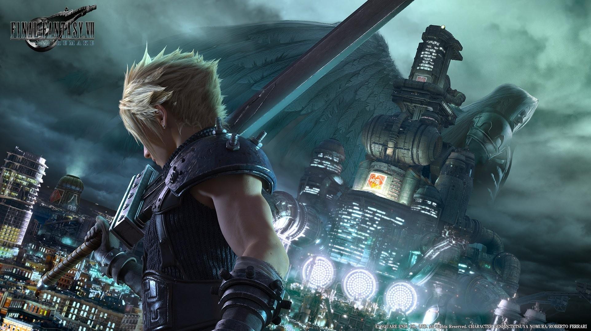 Cloud Strife, Final Fantasy VII, Video games, Midgar, Shinra, Sephiroth Wallpapers  HD / Desktop and Mobile Backgrounds