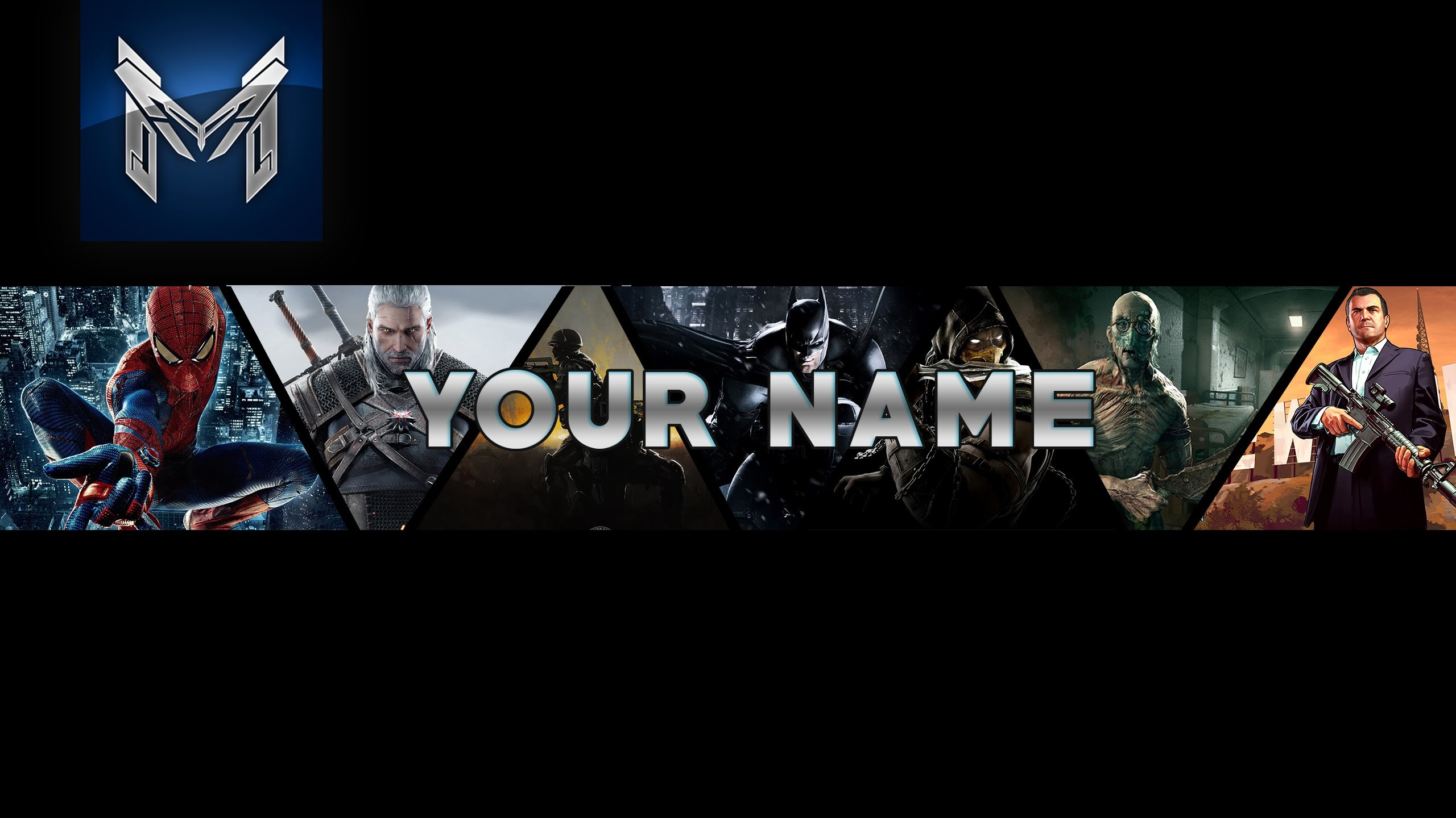 Gaming Youtube banner Template   Free Downland   Speed Art (Photoshop CS6)  – YouTube