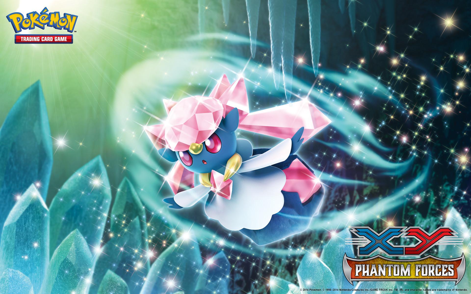 Pokémon TCG: XY—Phantom Forces Diancie Wallpaper