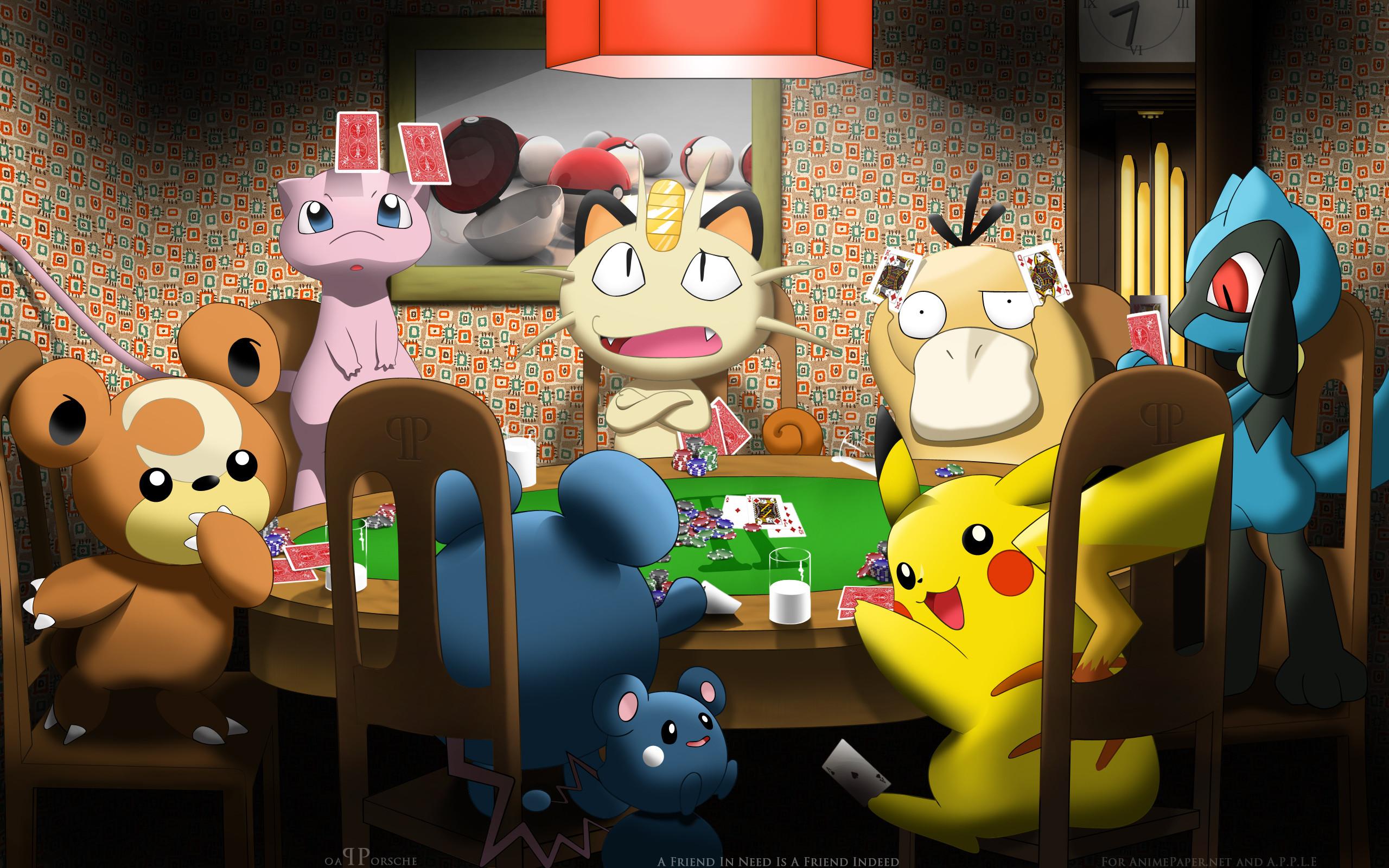 cool pokemon poker wallpaper hd