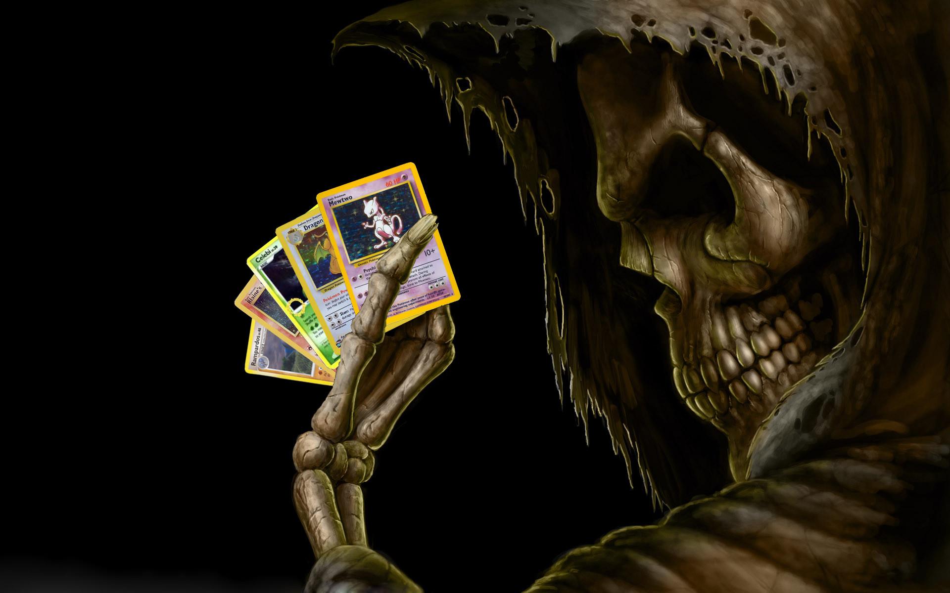 Skulls skeletons pokemon cards wallpaper     16036   WallpaperUP