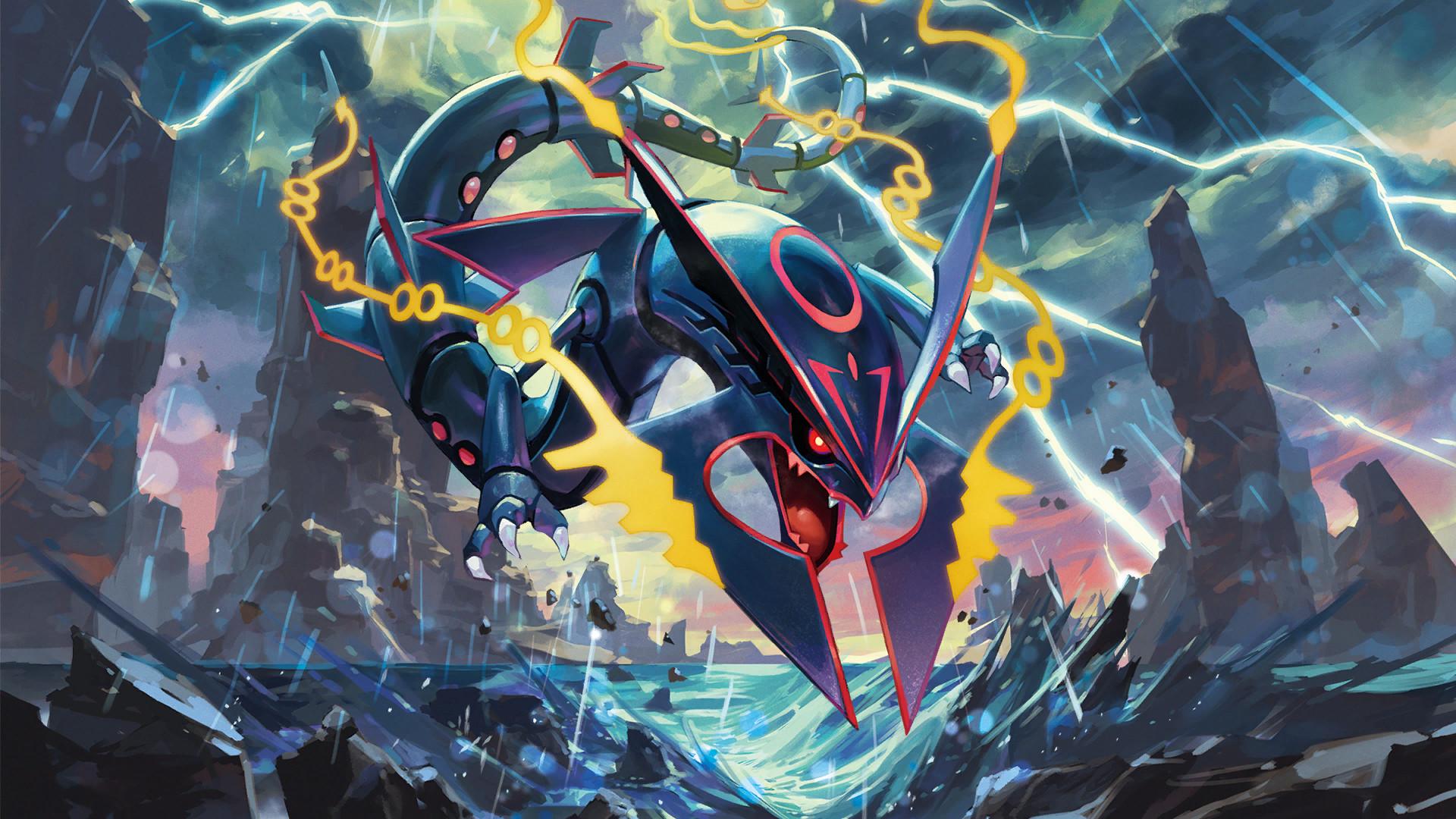 Image – Shiny Mega Rayquaza – Pokemon TCG XY Ancient Origins.png .