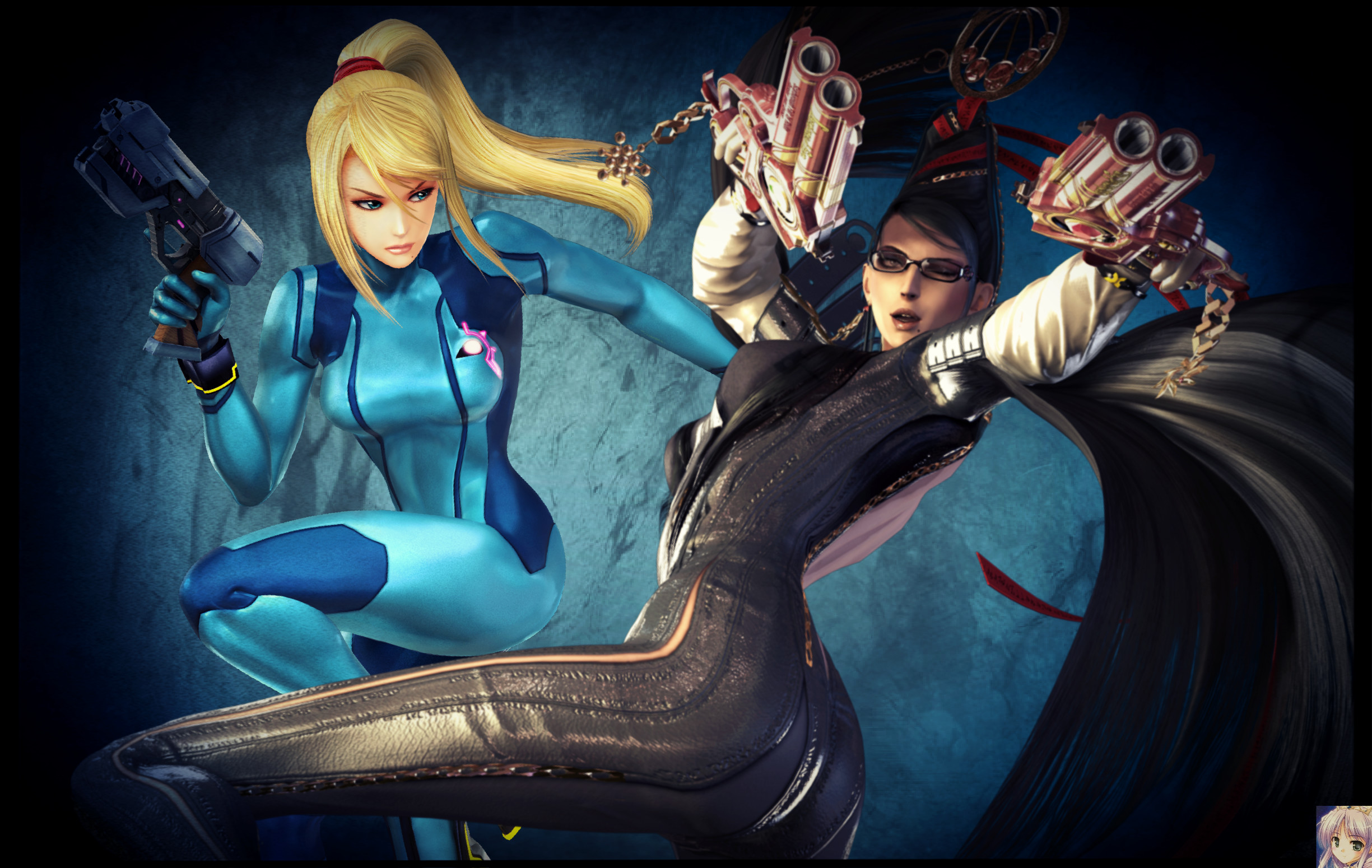… Samus Aran/Zero Suit and Bayonetta by FireFox4X