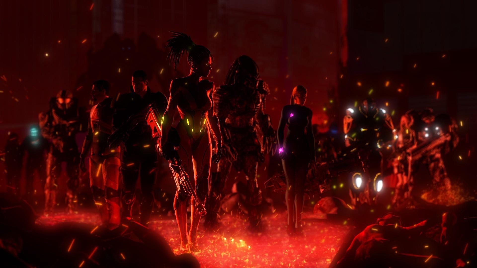 video Games, Artwork, Queen Of Blades, Mass Effect, Commander Shepard,  StarCraft, Predator (movie), Zero Suit Samus, Samus Aran, Metroid, Halo,  Master Chief …