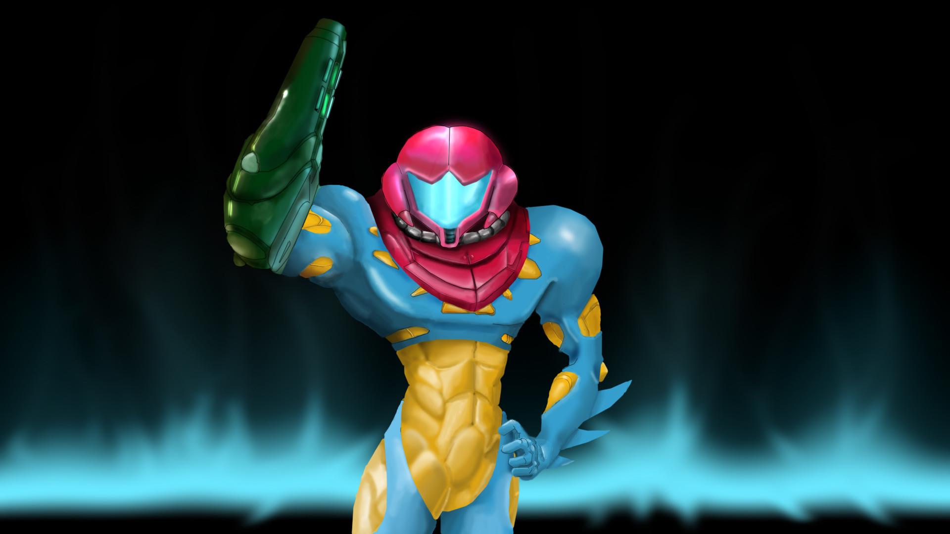 Fusion Suit Samus by CaptainPsychopath Fusion Suit Samus by  CaptainPsychopath