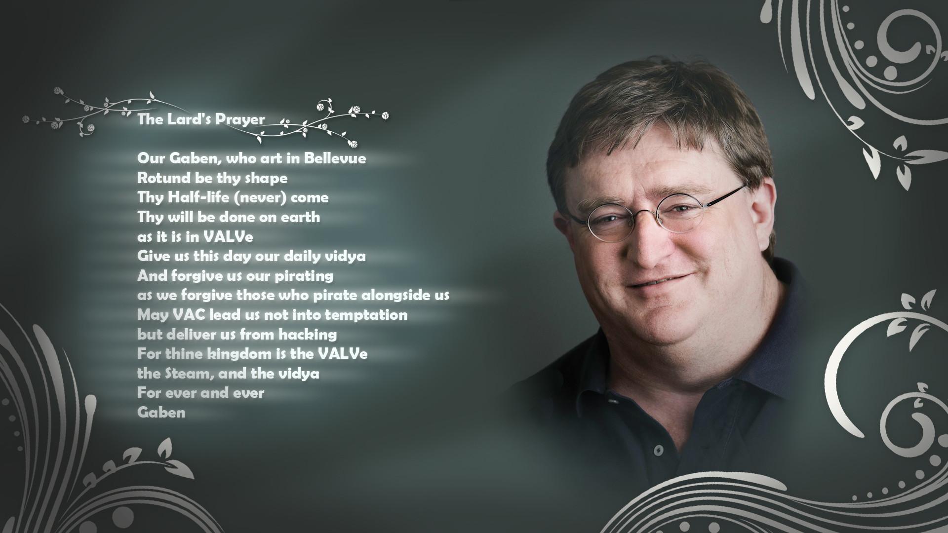 Gabe Newell The Lard's Prayer Prayer text humor wallpaper |  | 73746 | WallpaperUP