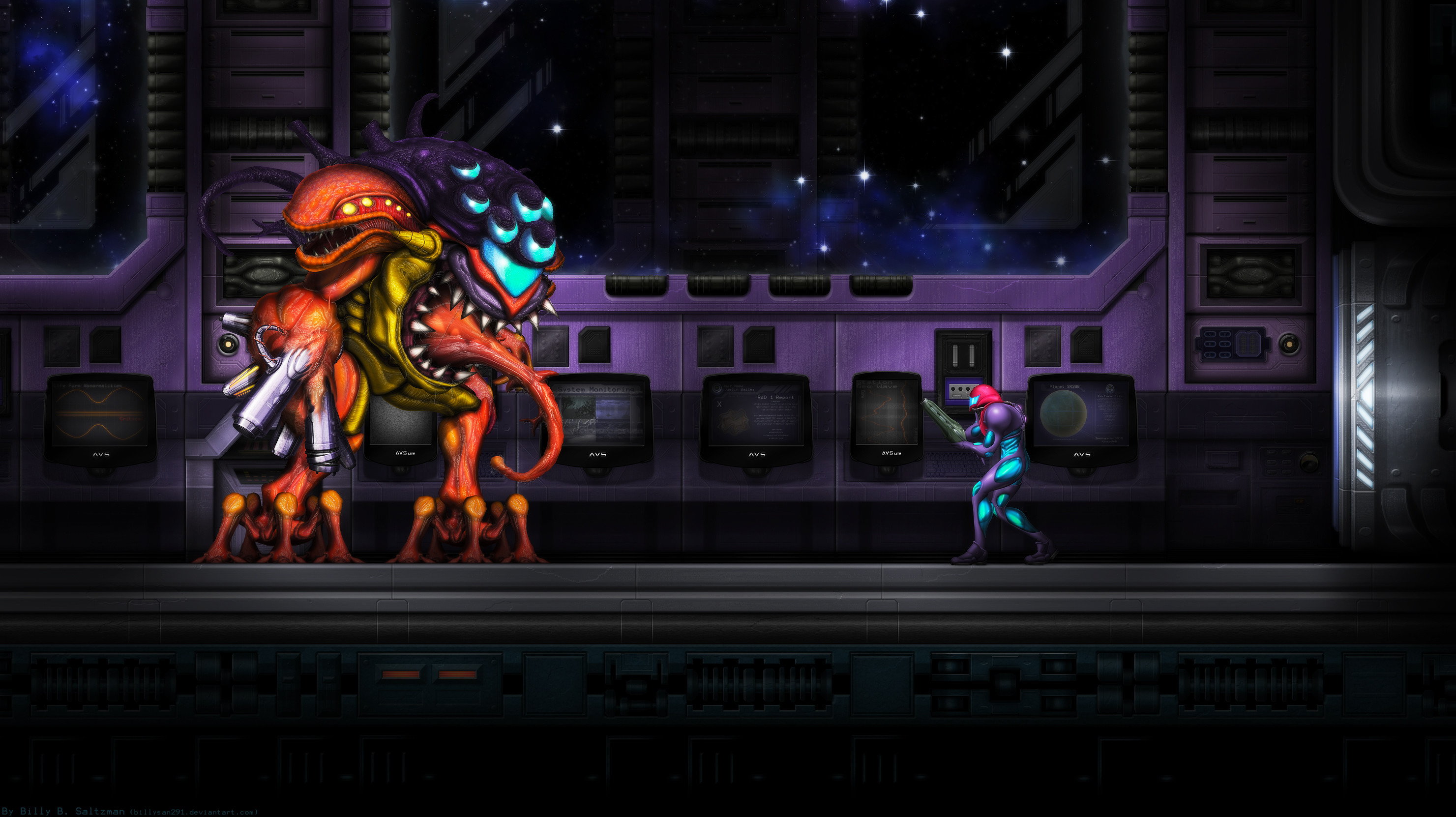 Metroid Fusion Final Boss background …