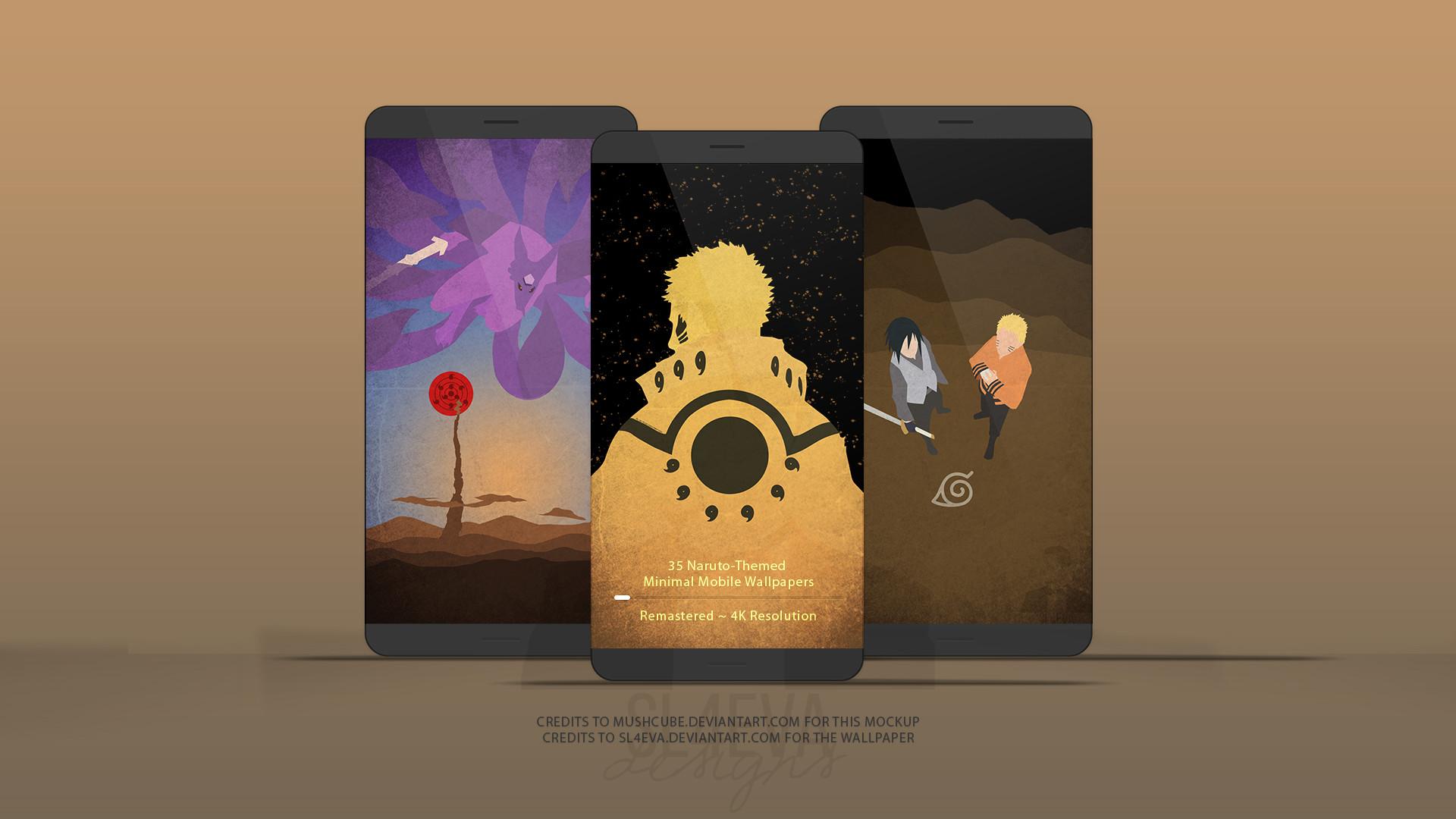 … [4K] Naruto Minimal Mobile Wallpapers Remastered by SL4eva