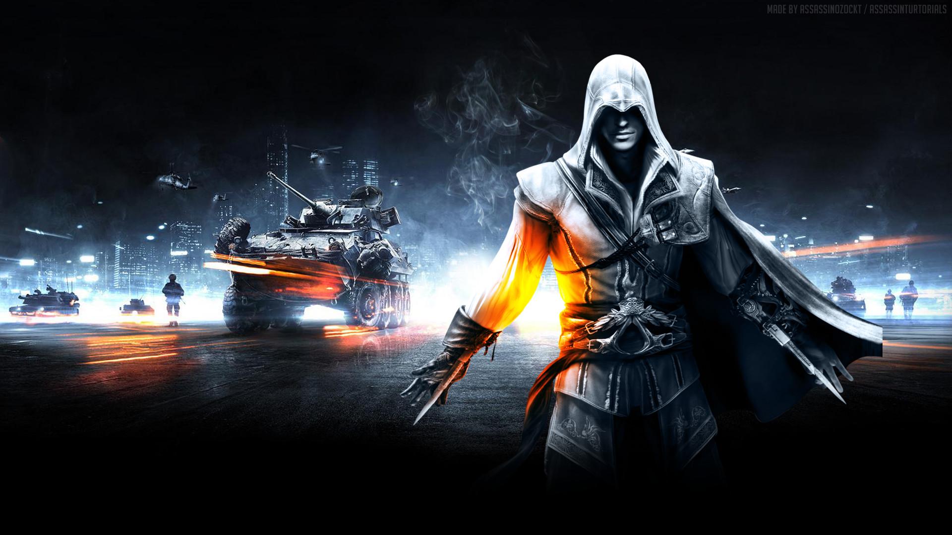 Video game wallpaper   Video Game – Collage – Assassins Creed – Battlefield  Wallpaper