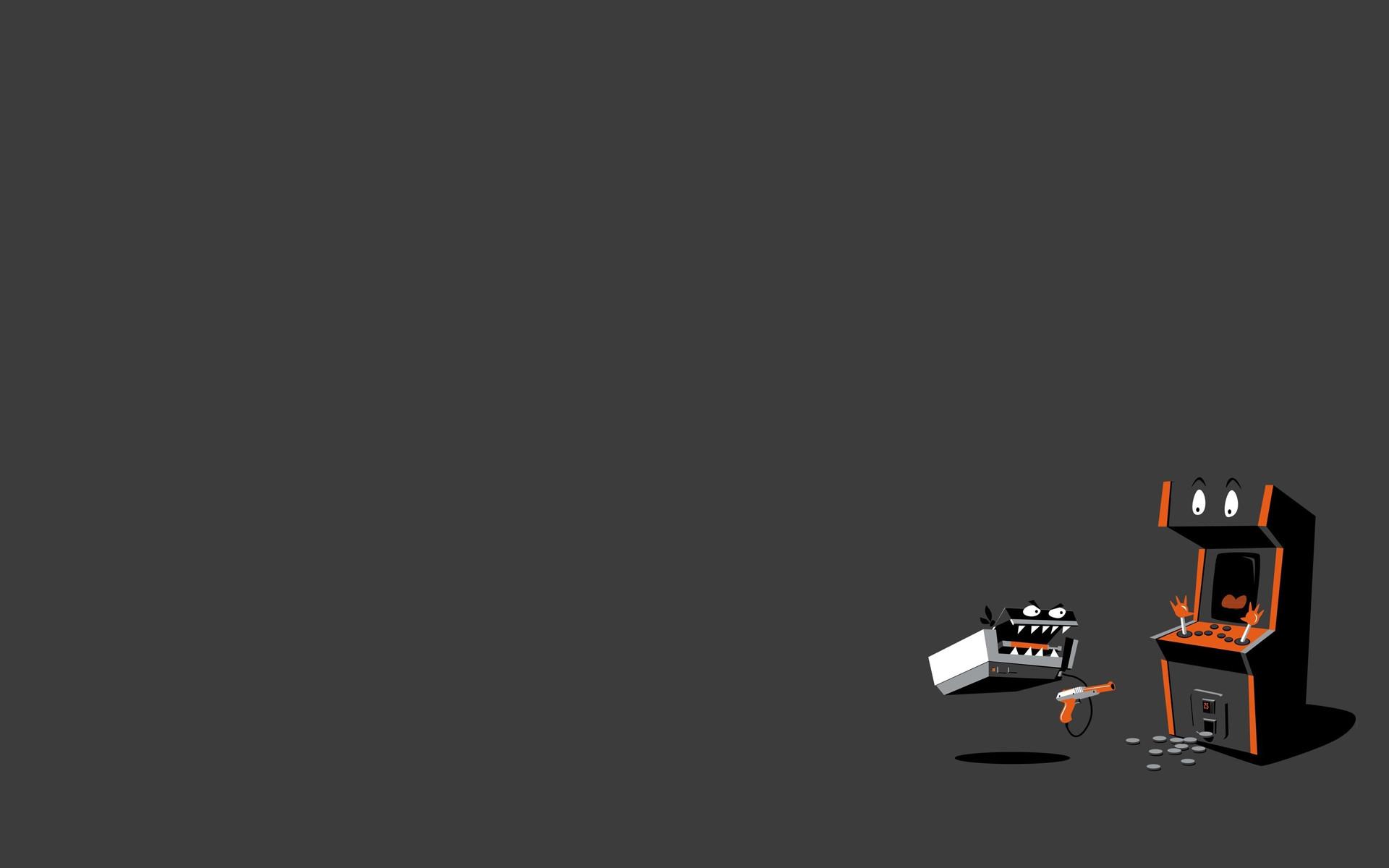 Video games minimalistic machines fun art wallpaper background