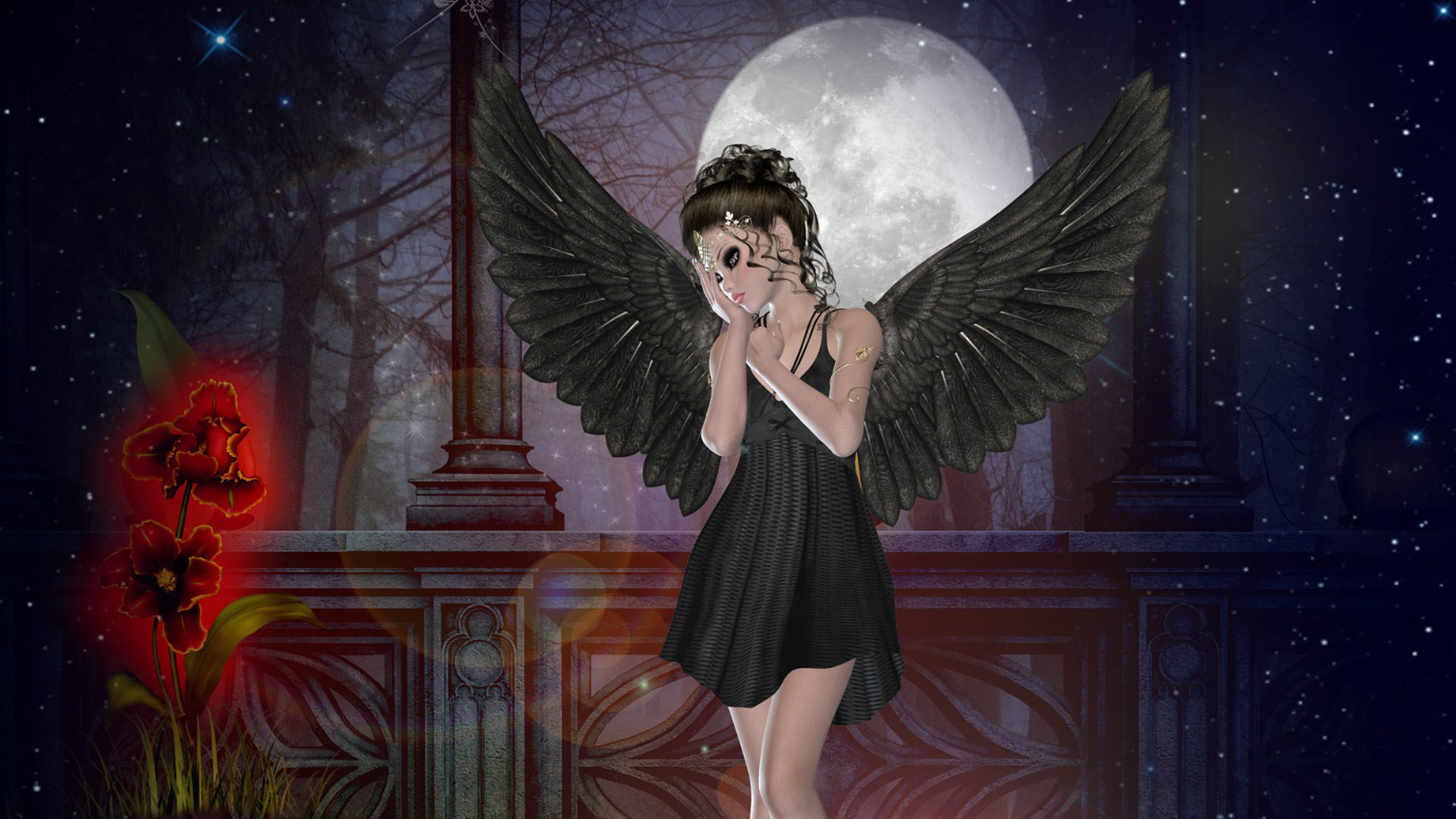Dark Shy Fairy HD Wallpapers