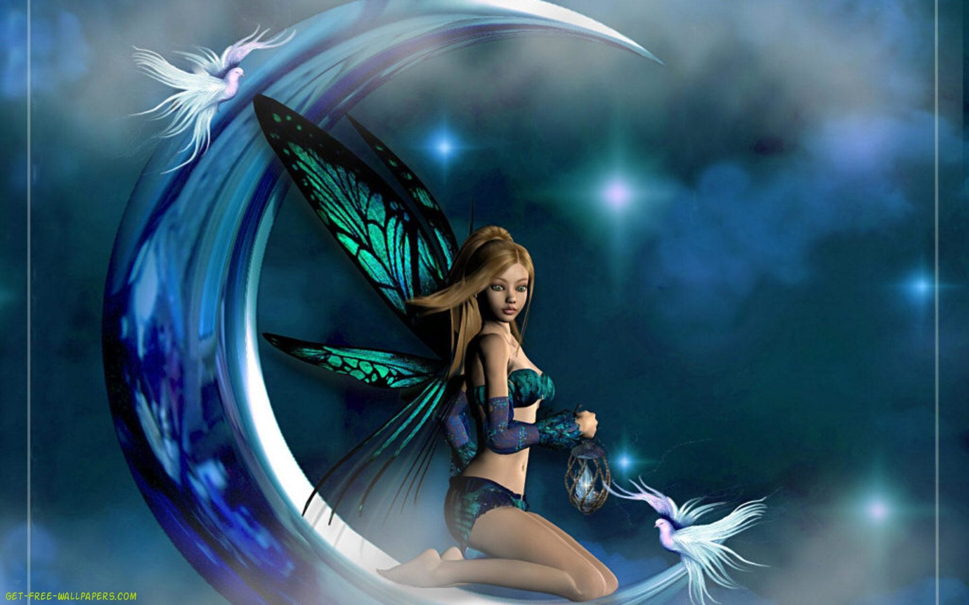 The moon fairy wallpaper.HD Wallpaper and background photos of Moon Fairy  Wallpaper for fans of Fairies images.