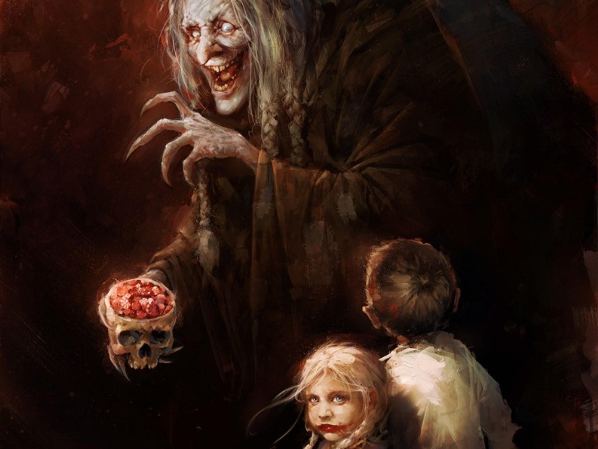 Horror Skull Witch Candy Fairy Tale Wallpaper At Dark Wallpapers