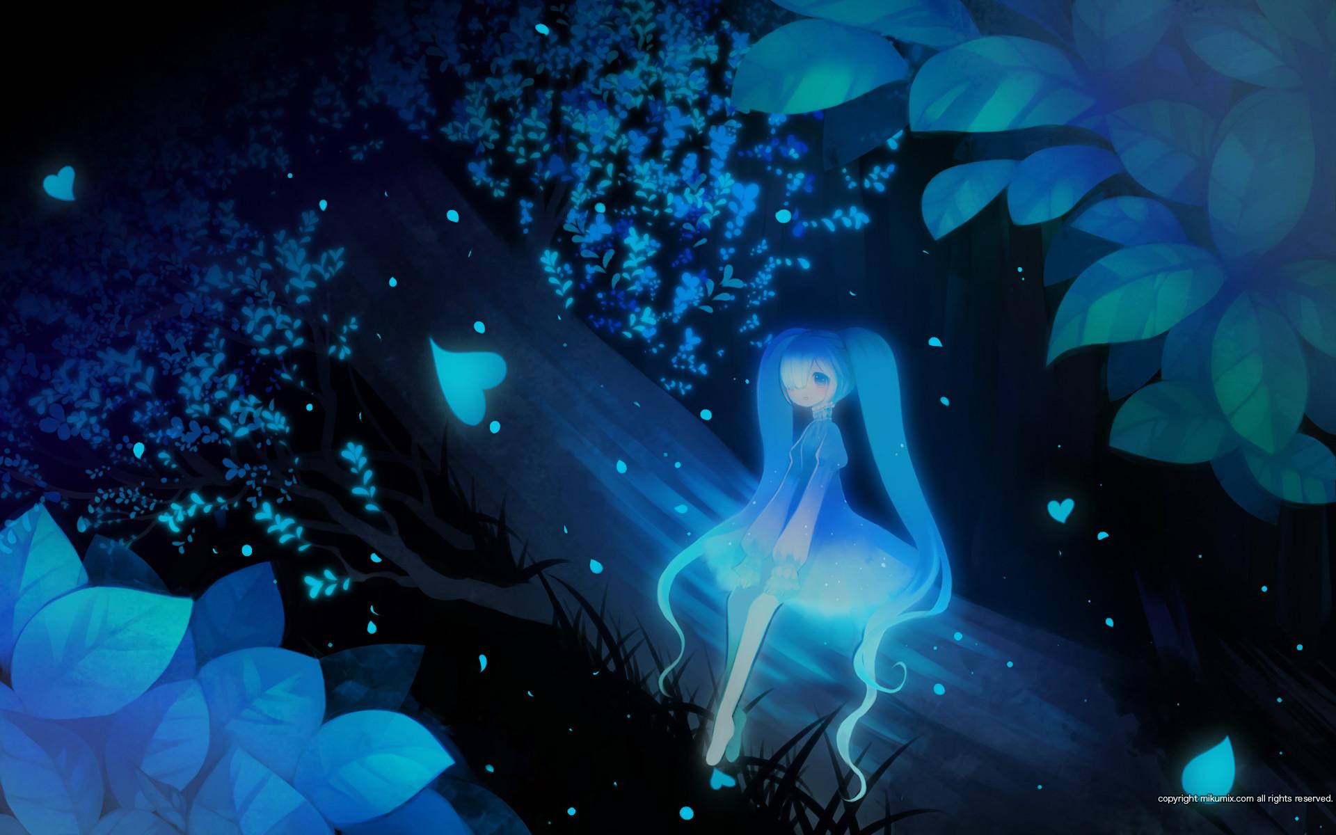 Dark fairy hatsune miku mikumix polychromatic puti devil tree twintails  vocaloid watermark wallpaper | | 76015 | WallpaperUP