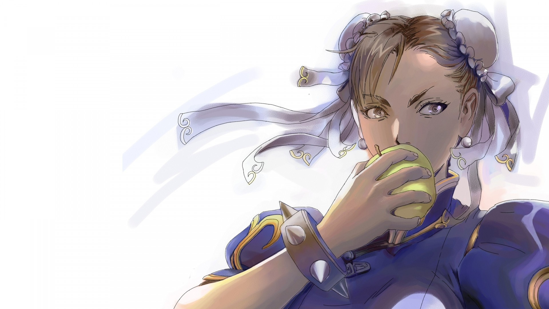 Preview wallpaper street fighter, chun-li, girl, anime, apple 1920×1080