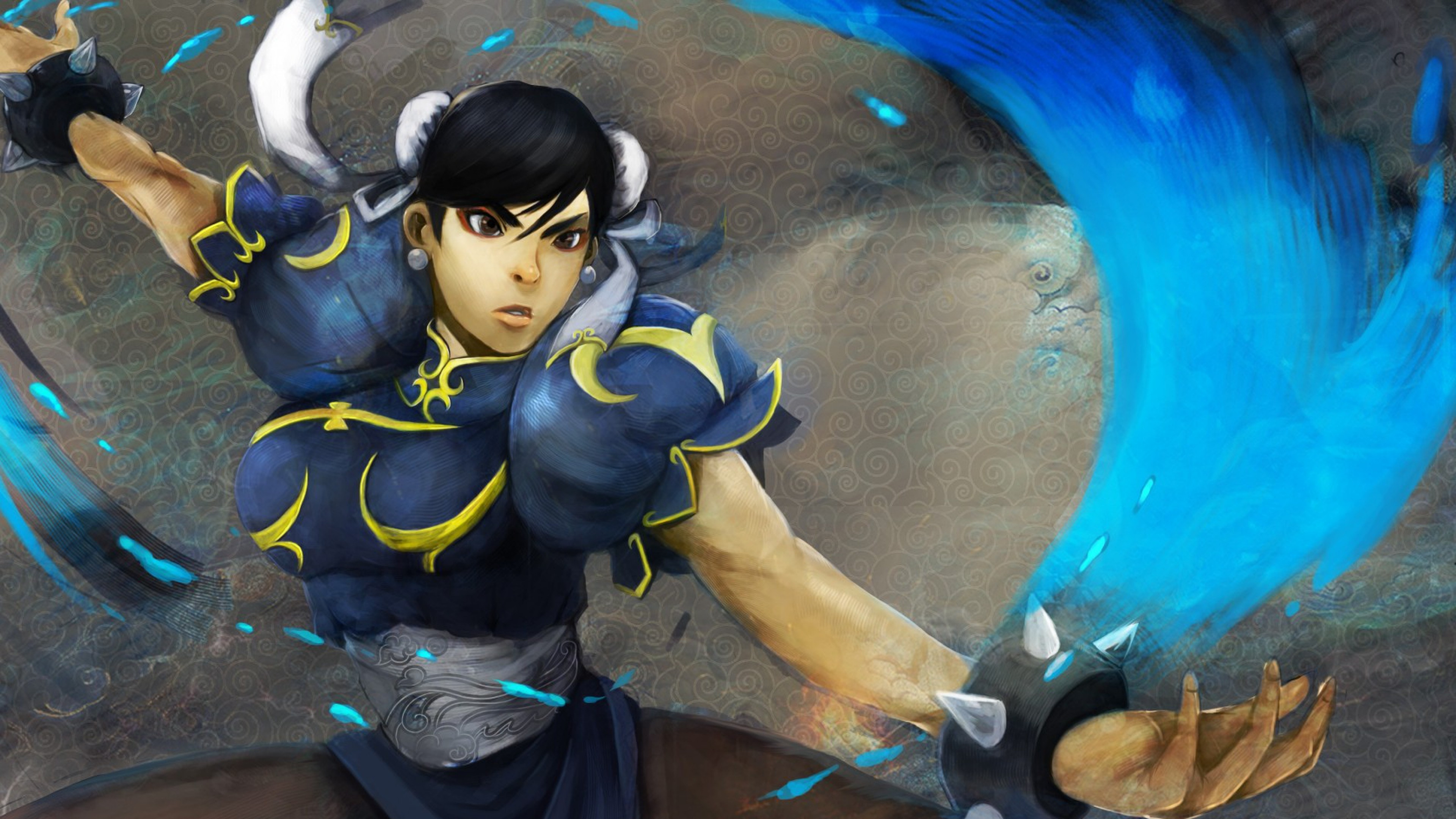 Wallpaper chun-li, street fighter, fighter, art