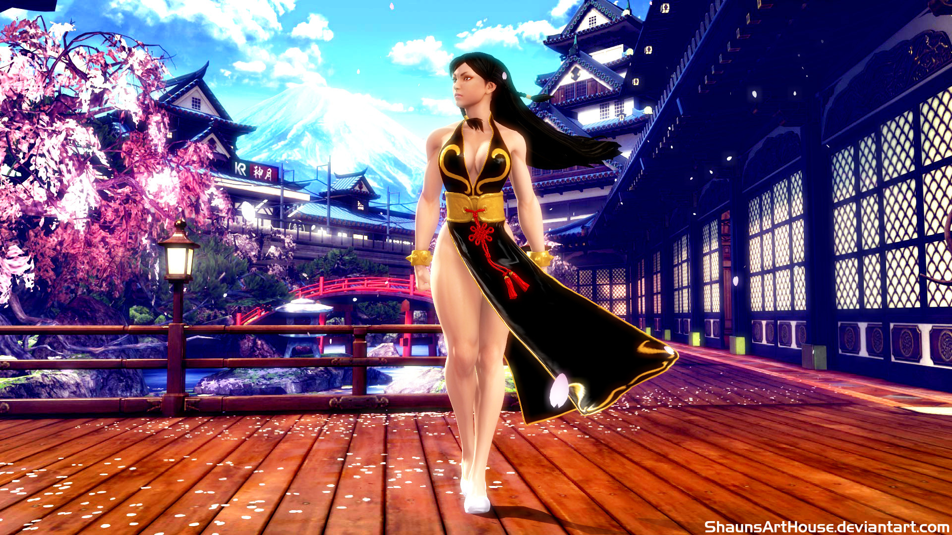 … Street Fighter Chun Li wallpaper by ShaunsArtHouse