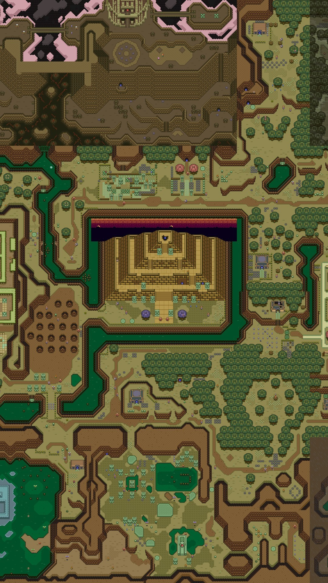 Dark World map – The Legend of Zelda – A Link to the Past Game mobile