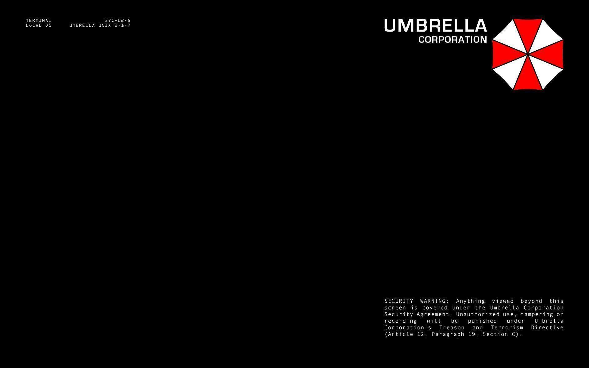 Umbrella Corporation terminal login : Desktop and mobile wallpaper .