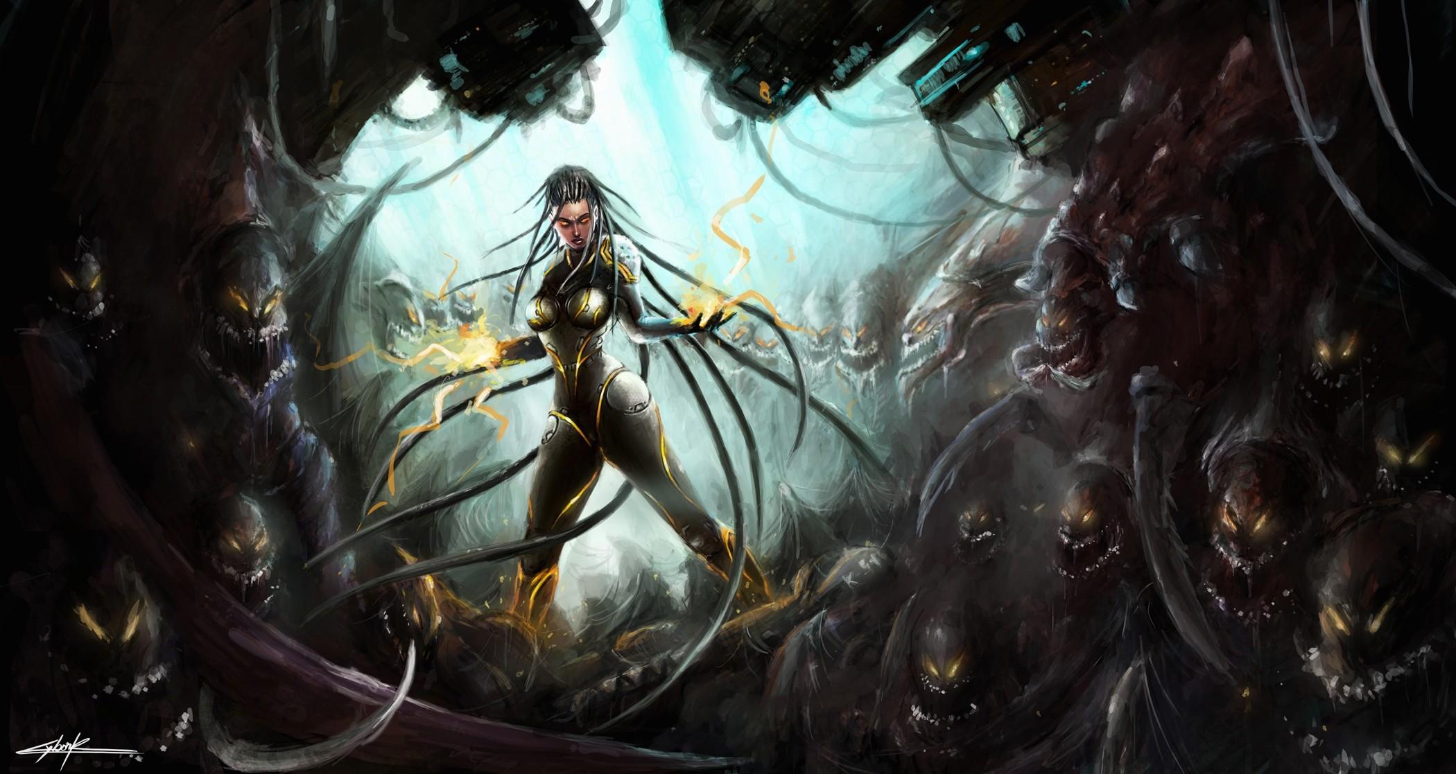 Sarah Kerrigan – II by Gelvuun | Graphics | Pinterest | Sarah kerrigan,  Starcraft and Sci fi