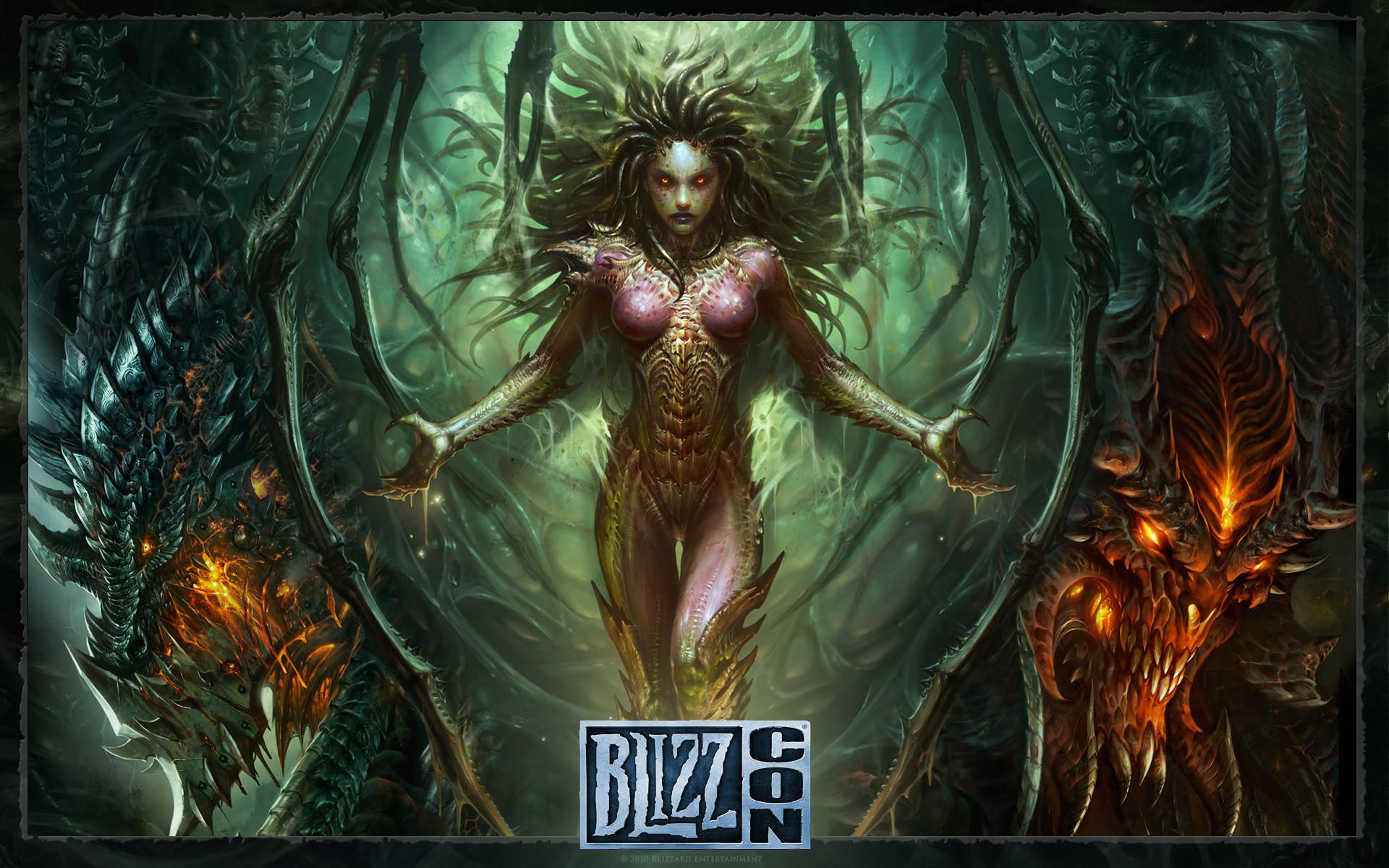 Starcraft, zerg, Sarah Kerrigan, monster