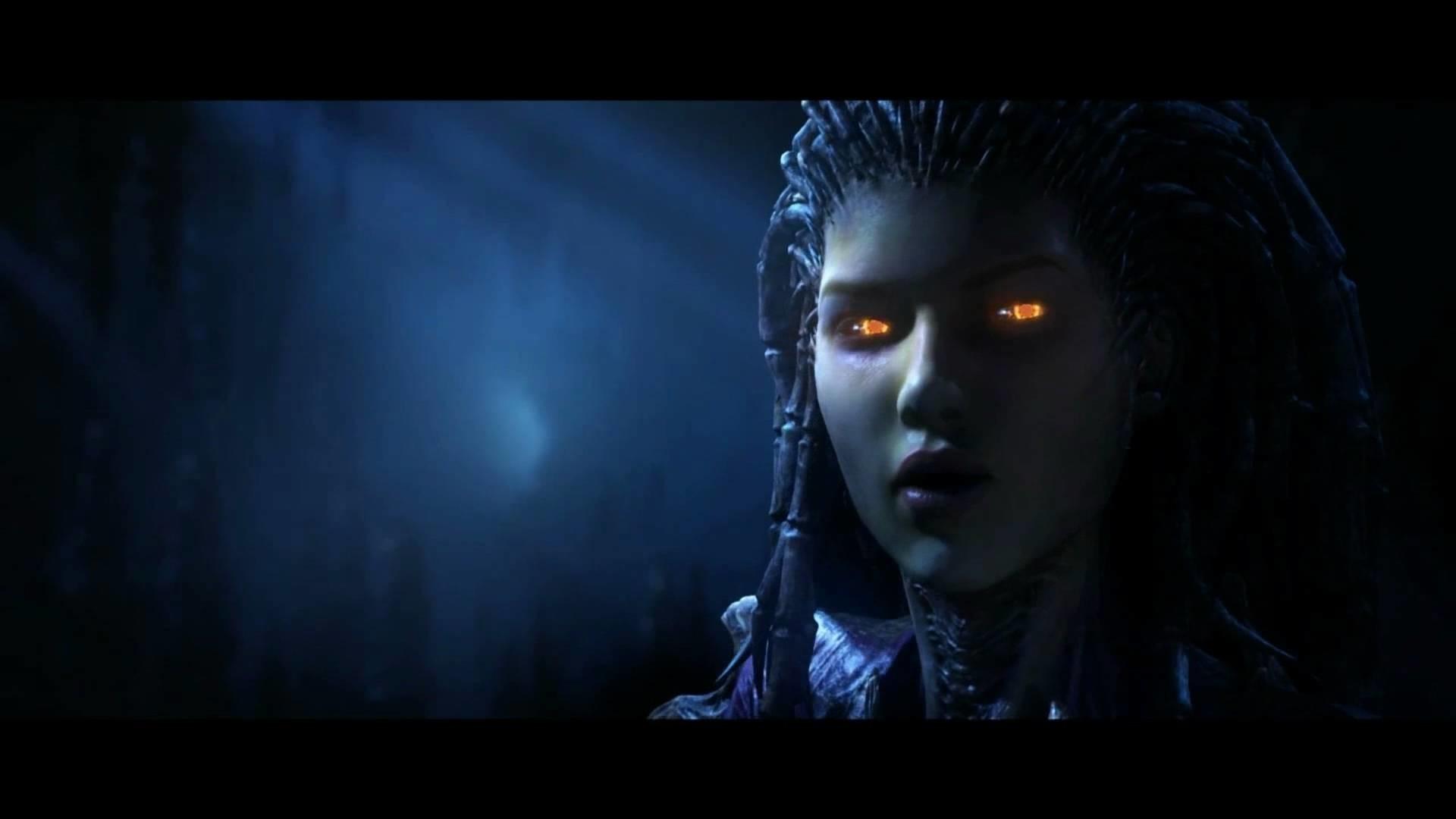 StarCraft 2 Zeratul VS Kerrigan Cinematic Ingame Version Full HD .
