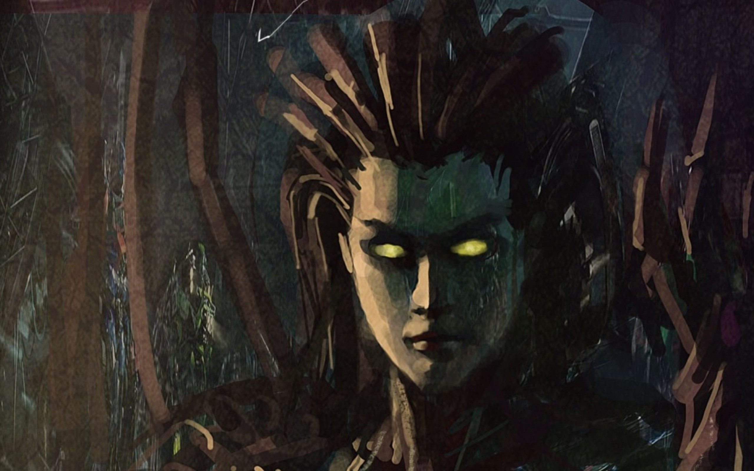 starcraft fantasy art artwork sarah kerrigan queen of blades kerrigan  1920×1080 wallpaper