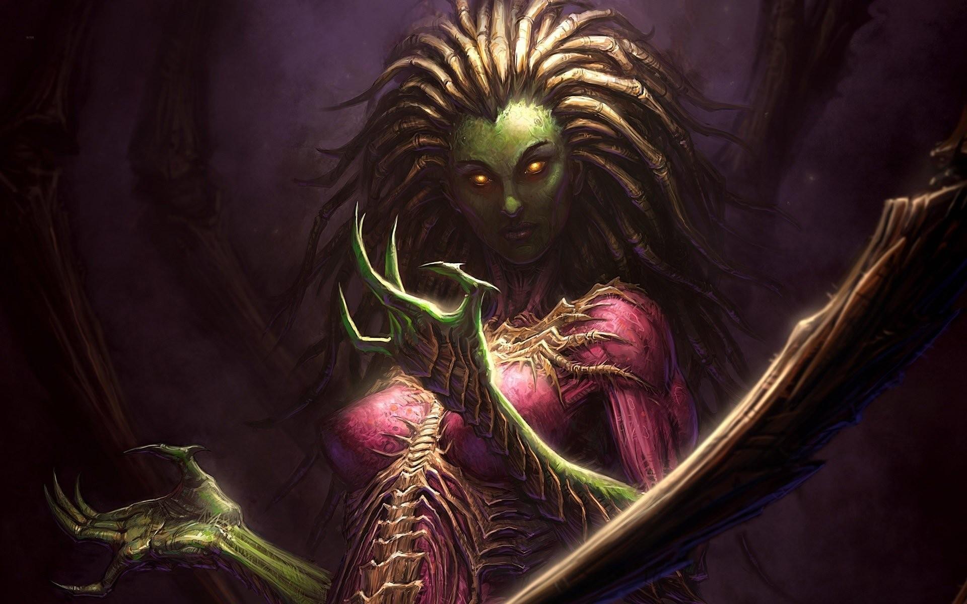 queen of blades sarah kerrigan starcraft fantasy storm