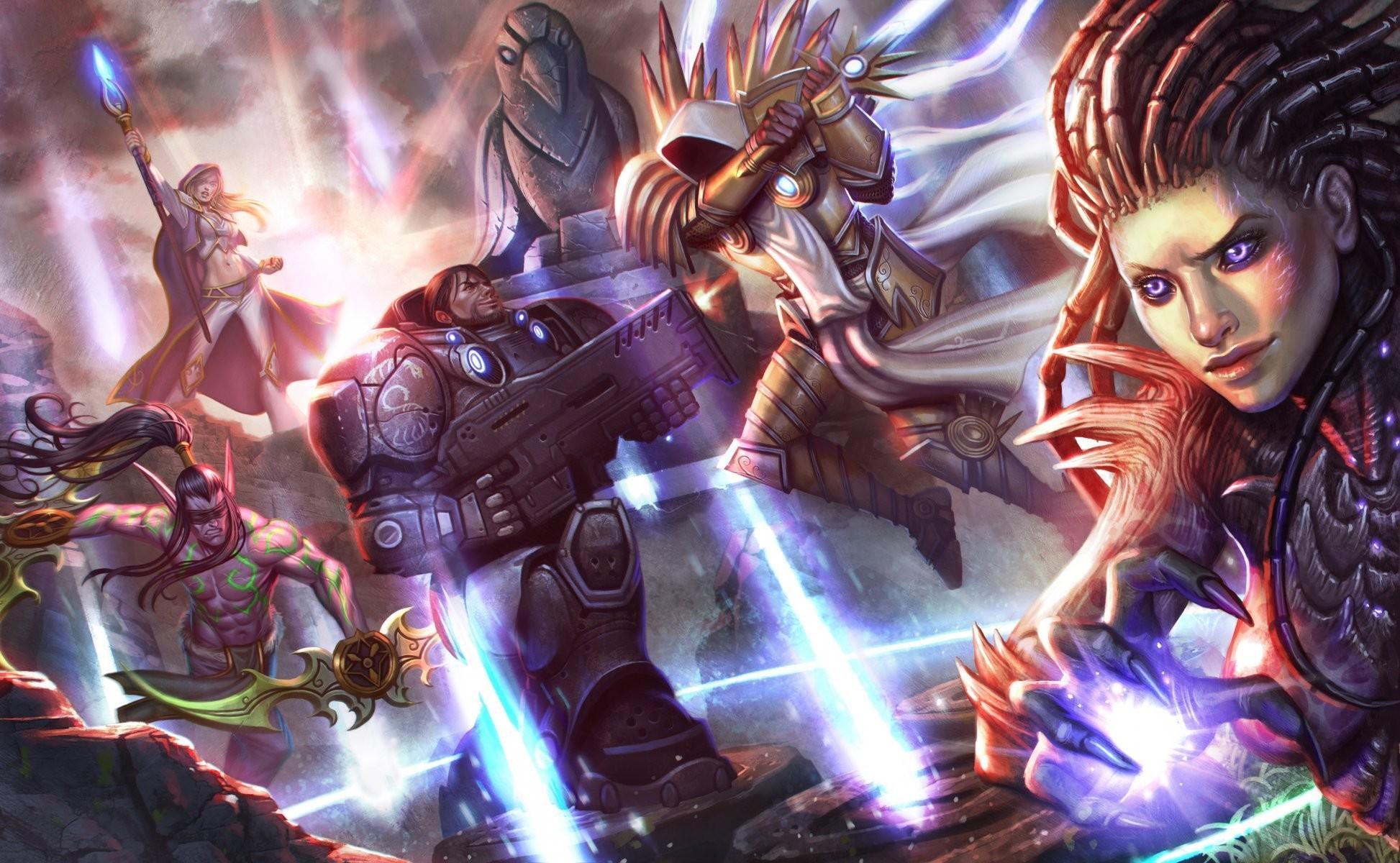 heroes of the storm tyrael archangel of justice starcraft sarah kerrigan  jim raynor illidan stormrage jaina