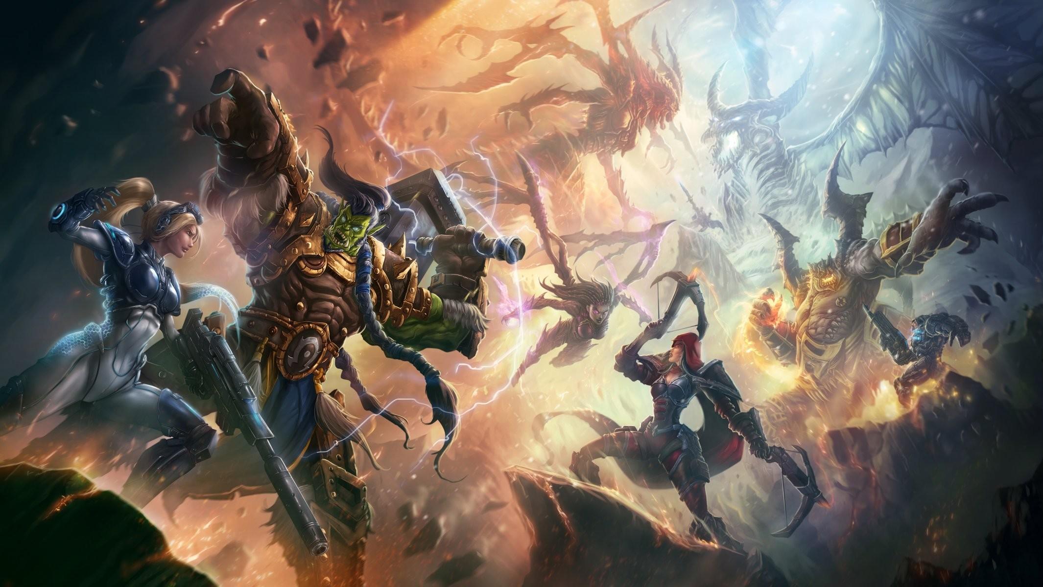 nova azmodan nova terra heroes of the storm starcraft thrall warcraft jim  raynor valla demon hunter