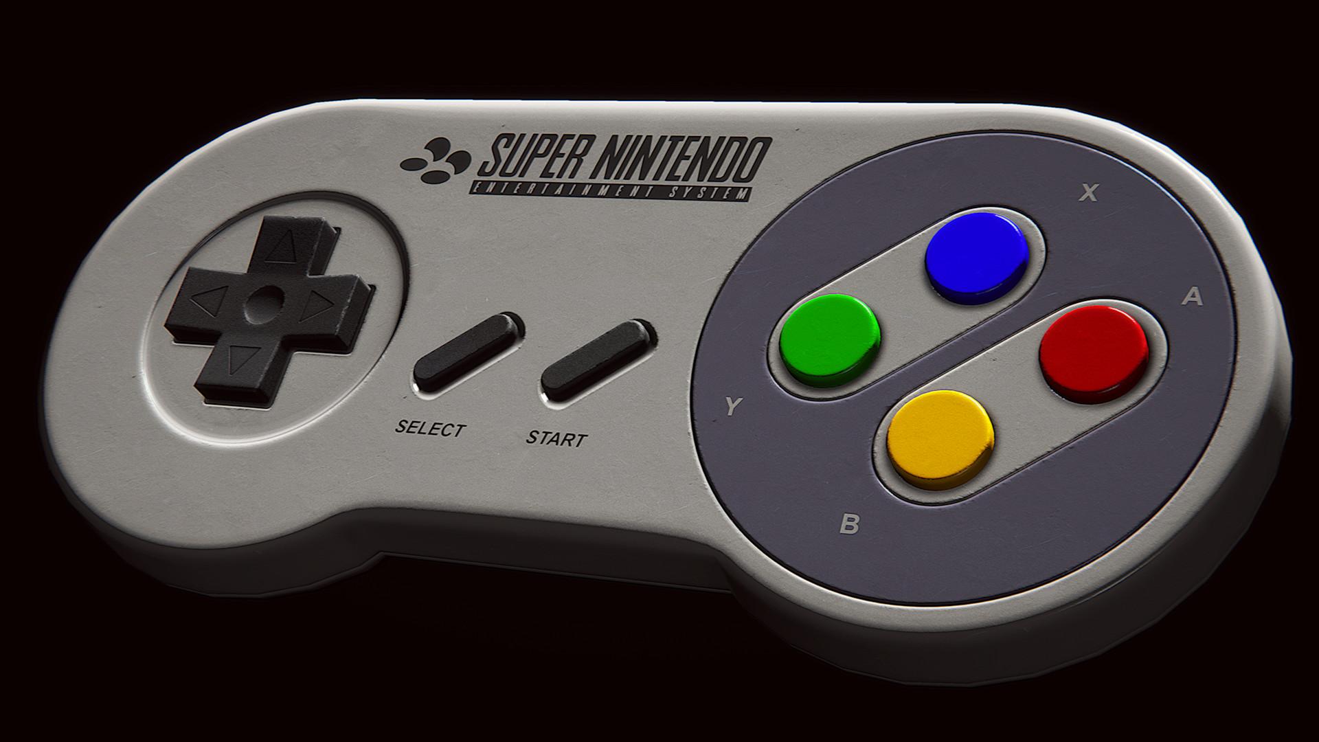 … SNES Controller (3D model) by AvaruusTurri