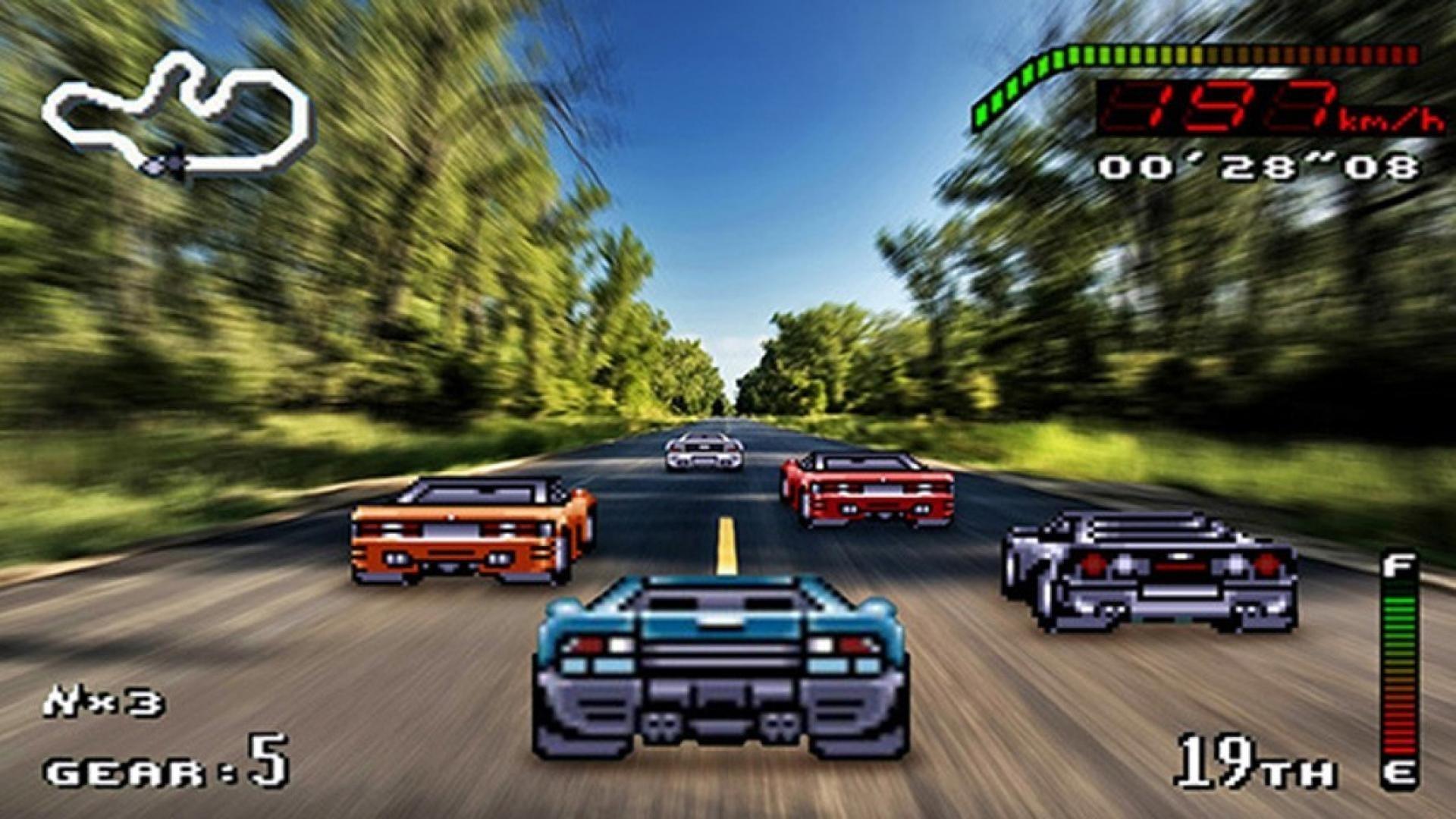 Cars retro games racing 16 bit wallpaper | (62892)
