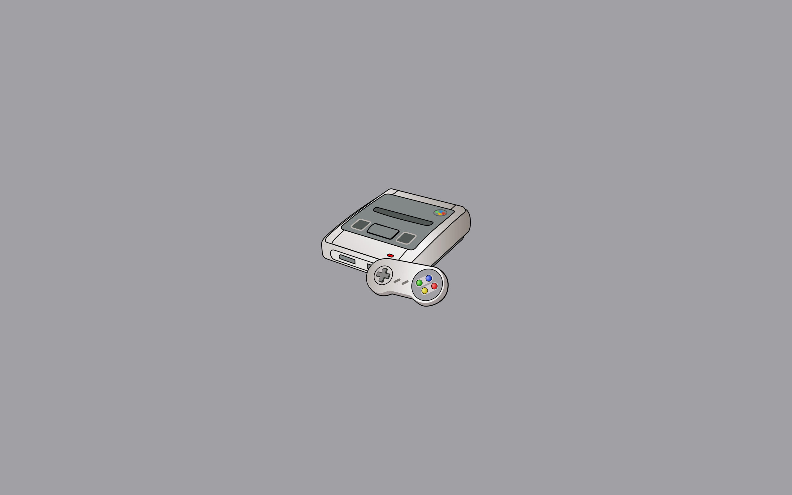 … SNES Console Drawing – by Kroontje