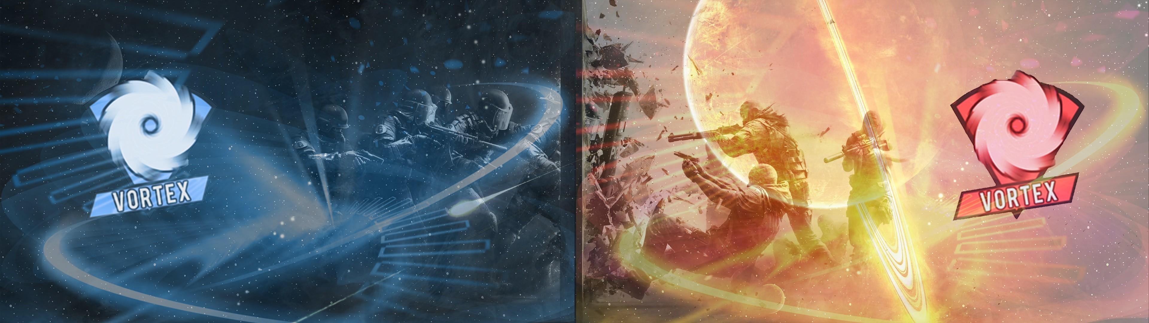 … Team Vortex CSGO (Dual Screen Wallpaper) by MrElderon