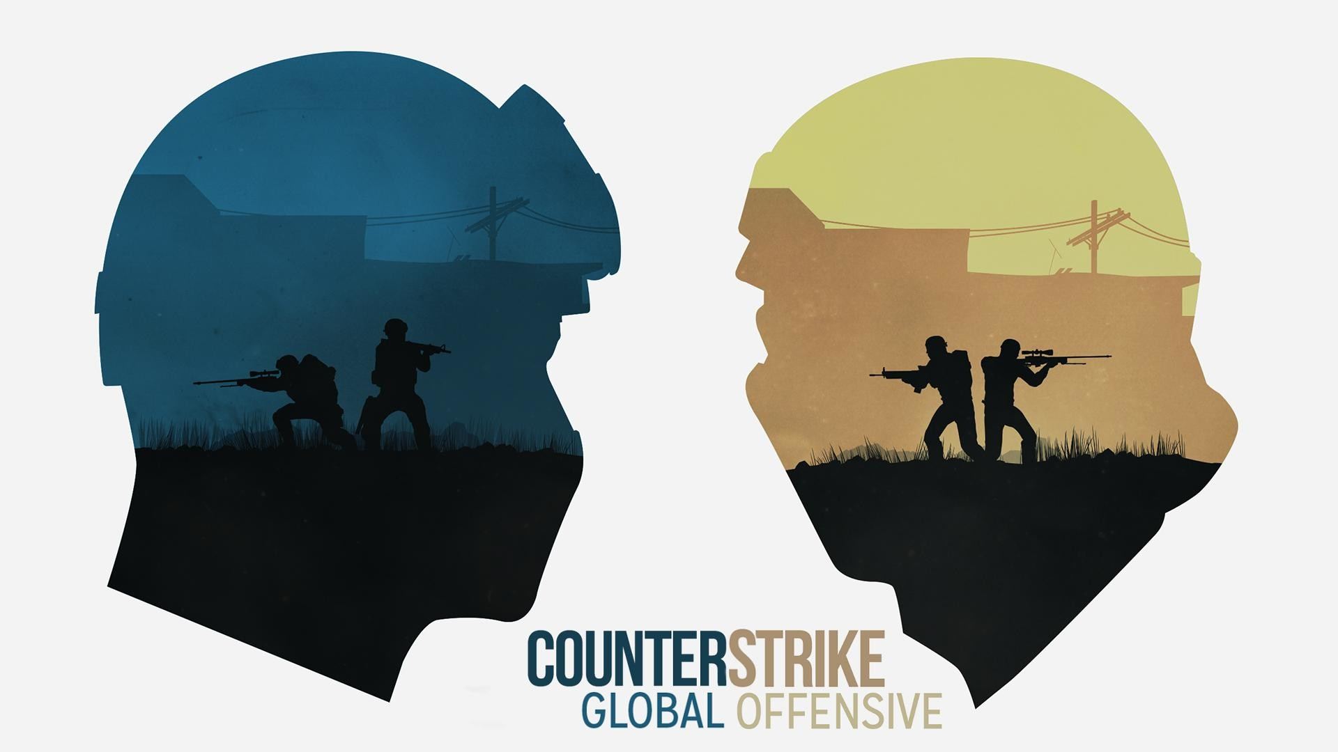 CS:GO Counter Terrorist vs Terrorist Wallpaper