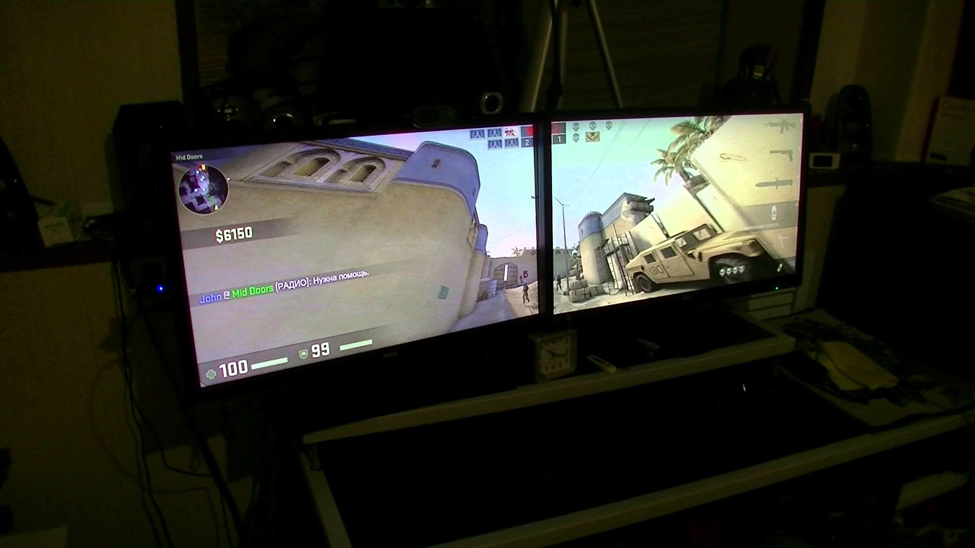 Nvidia Surround 2 monitor Test: FarCry 3 and CS:GO