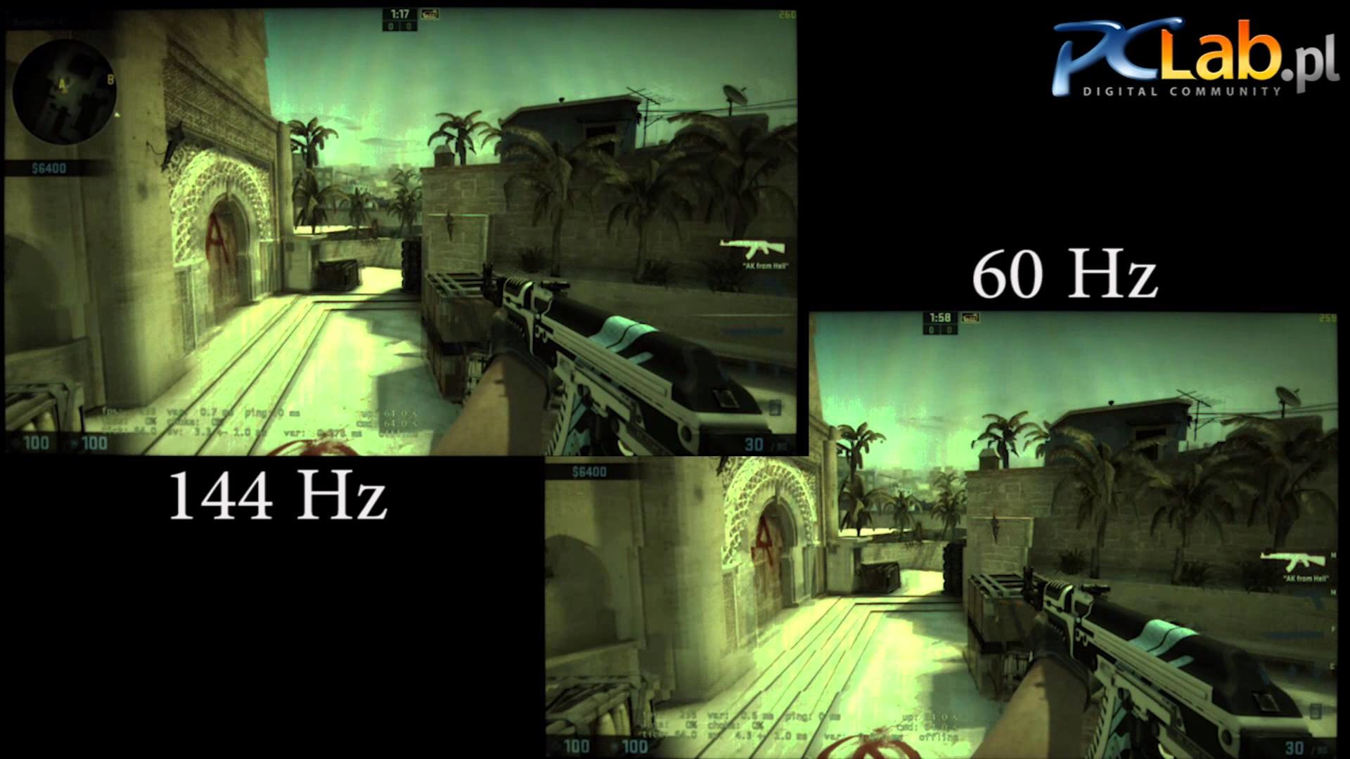 144 Hz vs 60 Hz in Counter-Strike: Global Offensive (Asus PG278Q) – YouTube