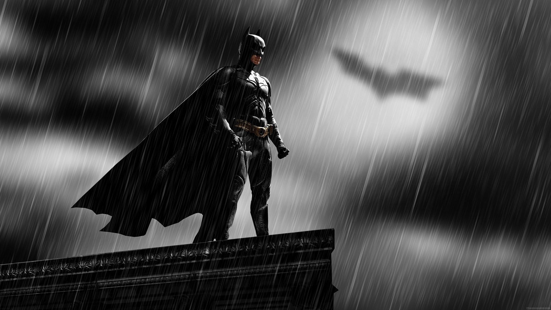 Batman, Rooftops, Rain, Bat Signal, MessenjahMatt, People Wallpapers HD /  Desktop and Mobile Backgrounds
