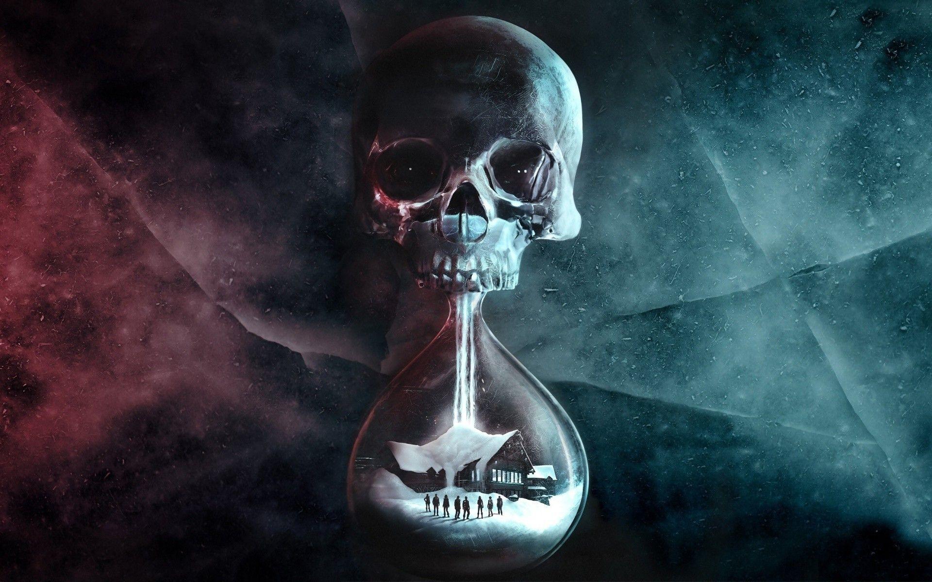Download People Digital Art Hourglasses Skull Until Dawn Video